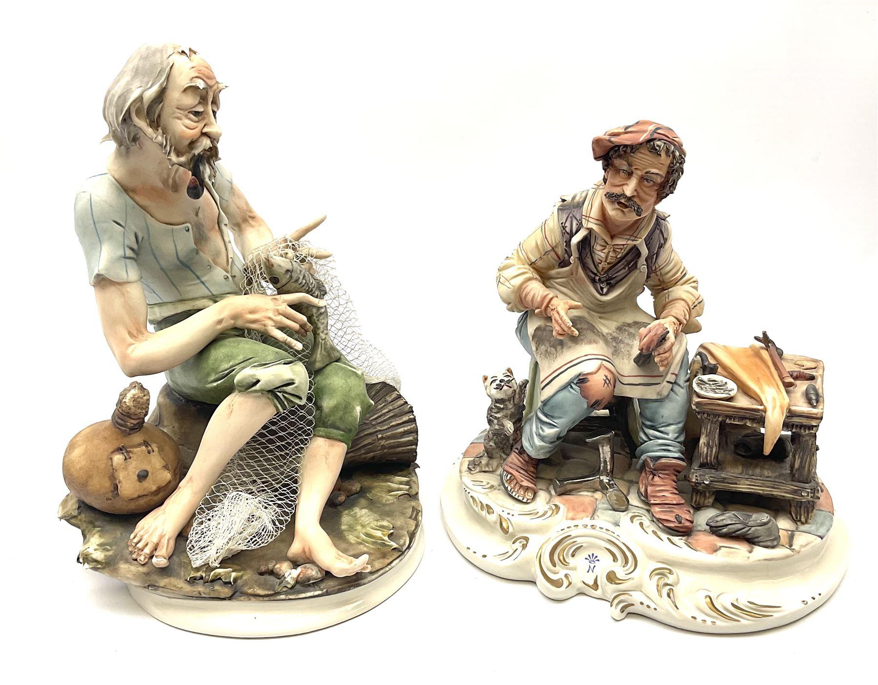 Two Capodimonte figures