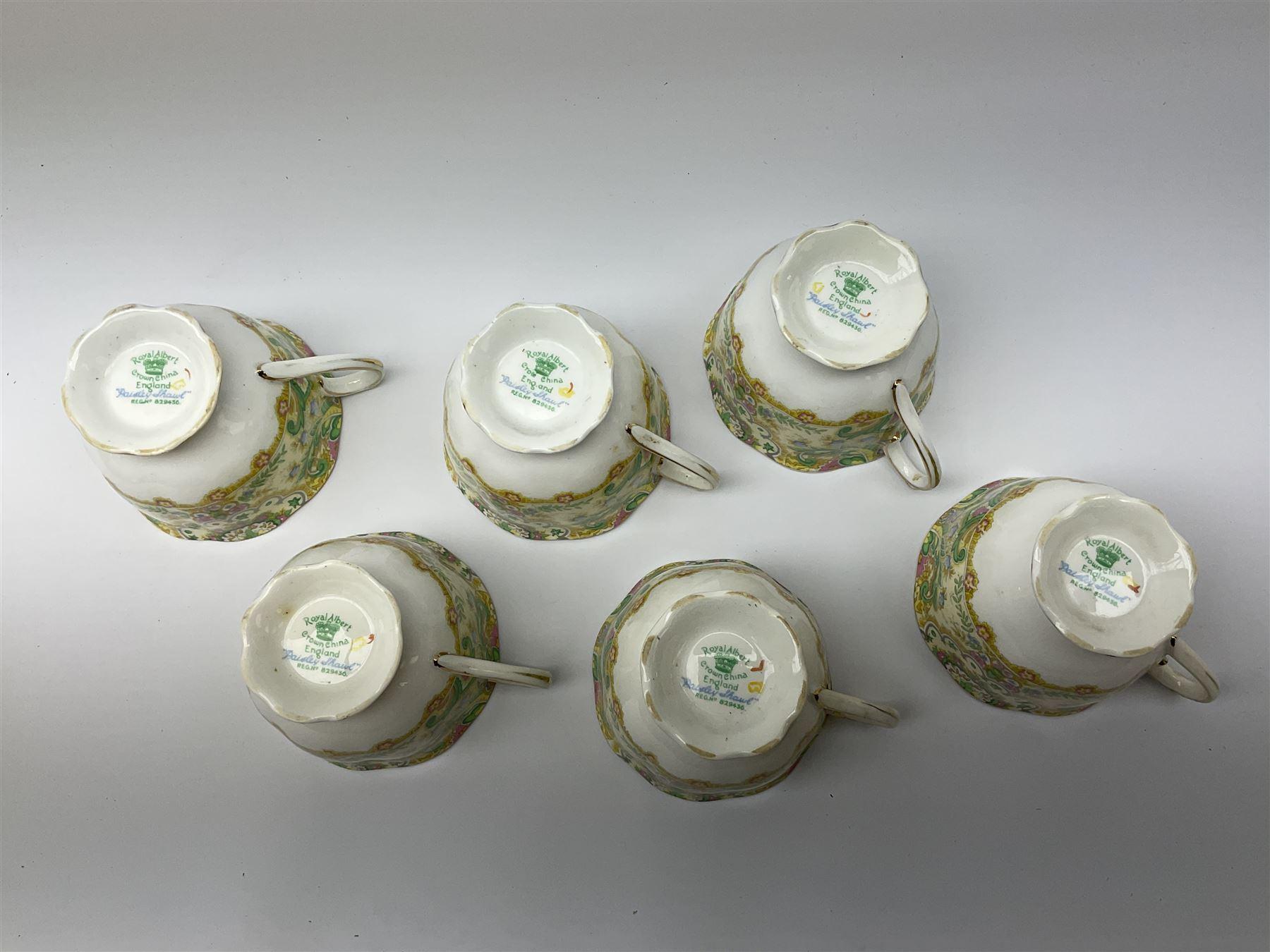 Royal Albert 'Paisley Shawl' pattern part tea set - Image 6 of 12
