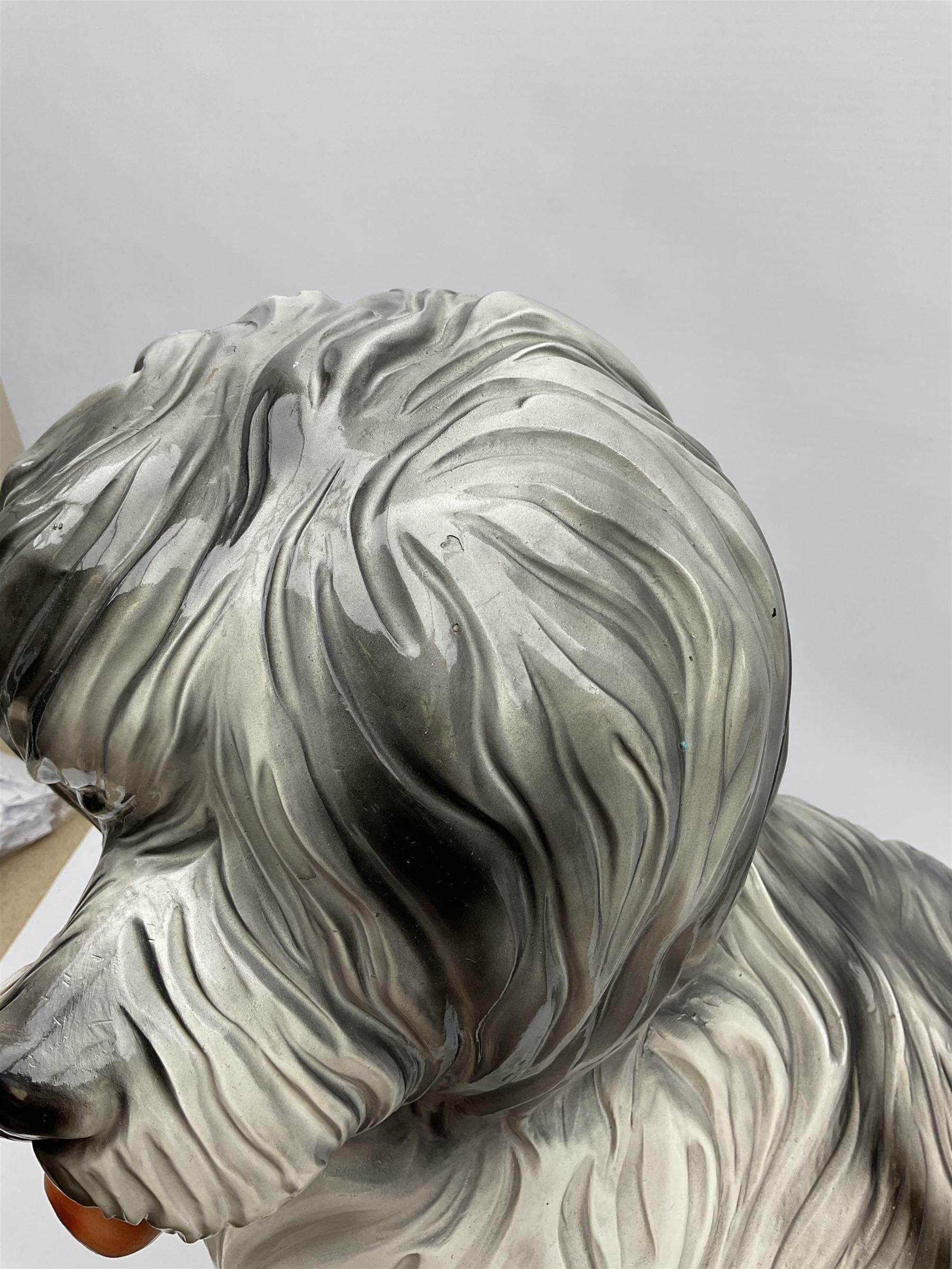 Large stylised composite model of an old English sheep dog - Image 3 of 5