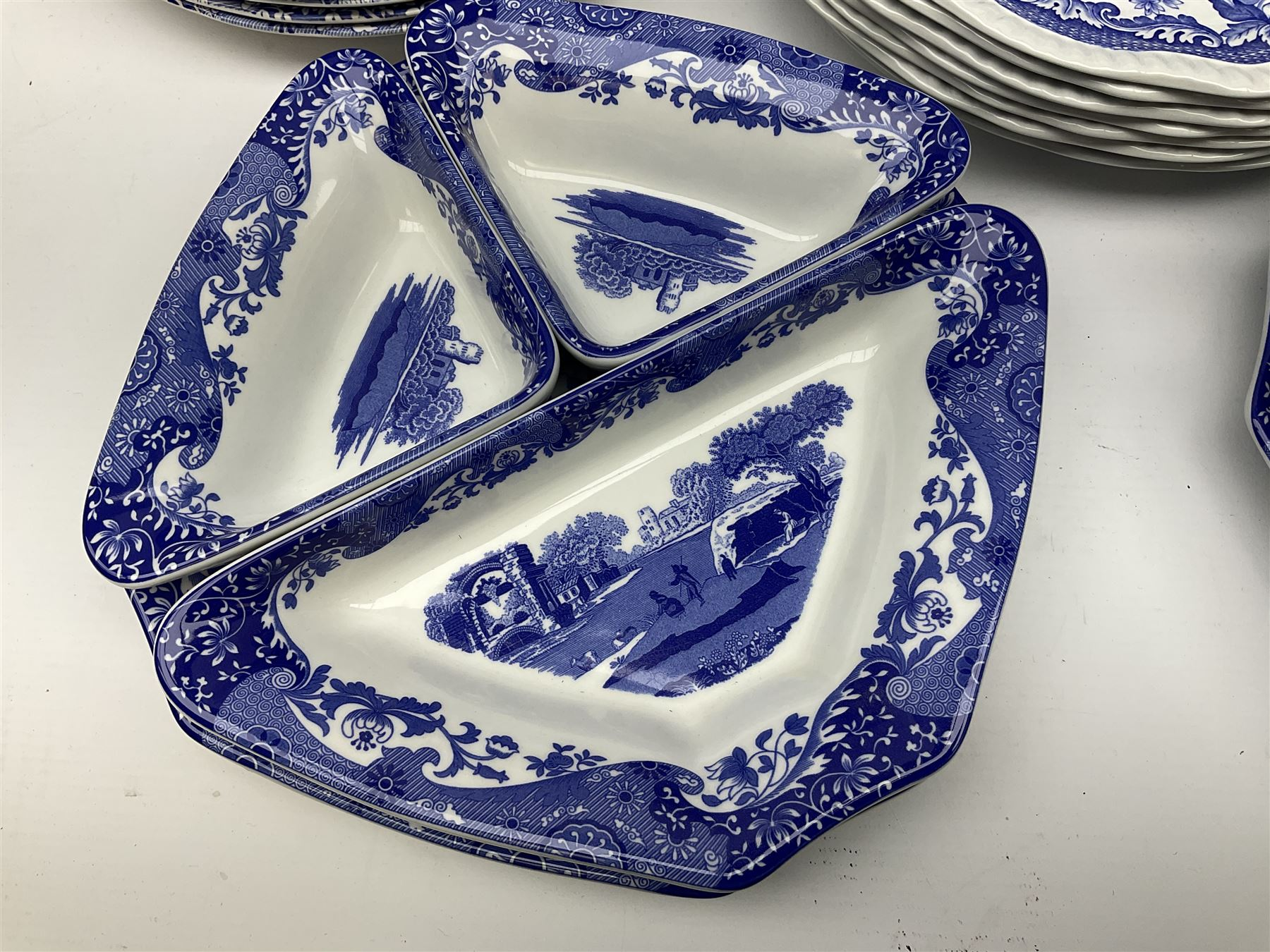 A collection of Spode blue and white ceramics