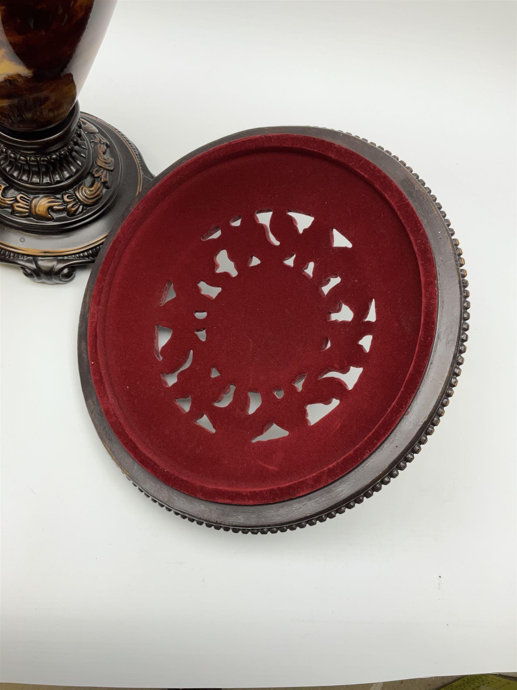 A three piece bronzed composite garniture - Image 3 of 4