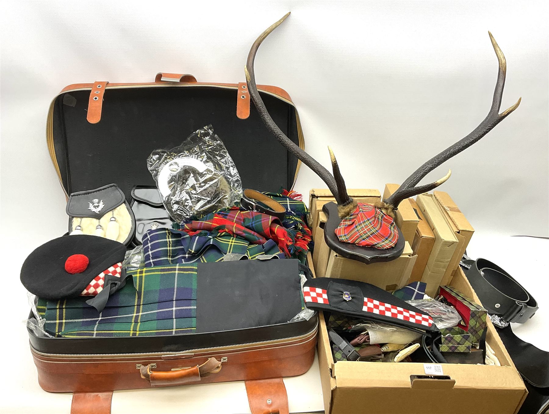 Quantity of highland dress to include approximately is kilts with examples by Locharron