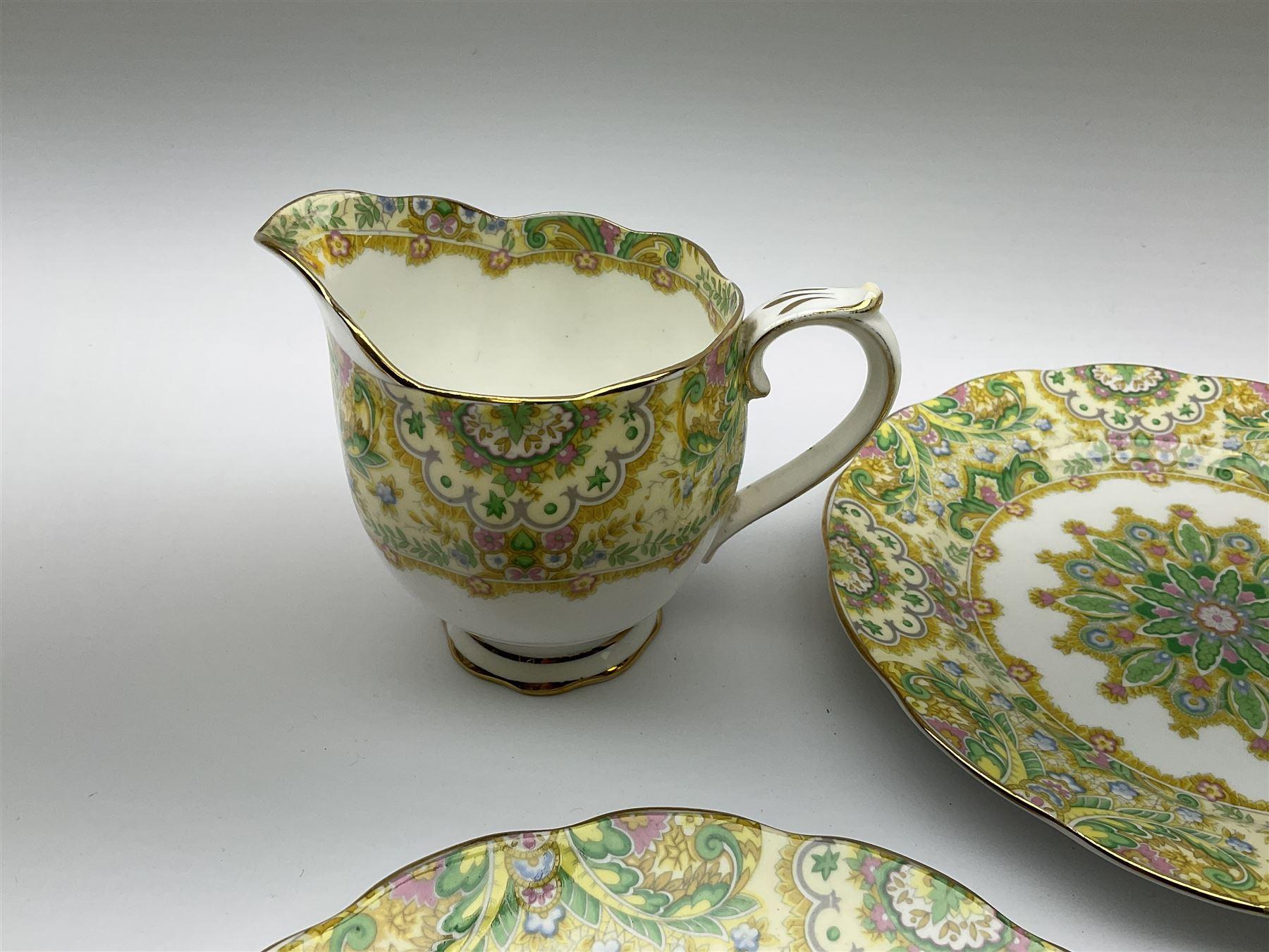 Royal Albert 'Paisley Shawl' pattern part tea set - Image 12 of 12