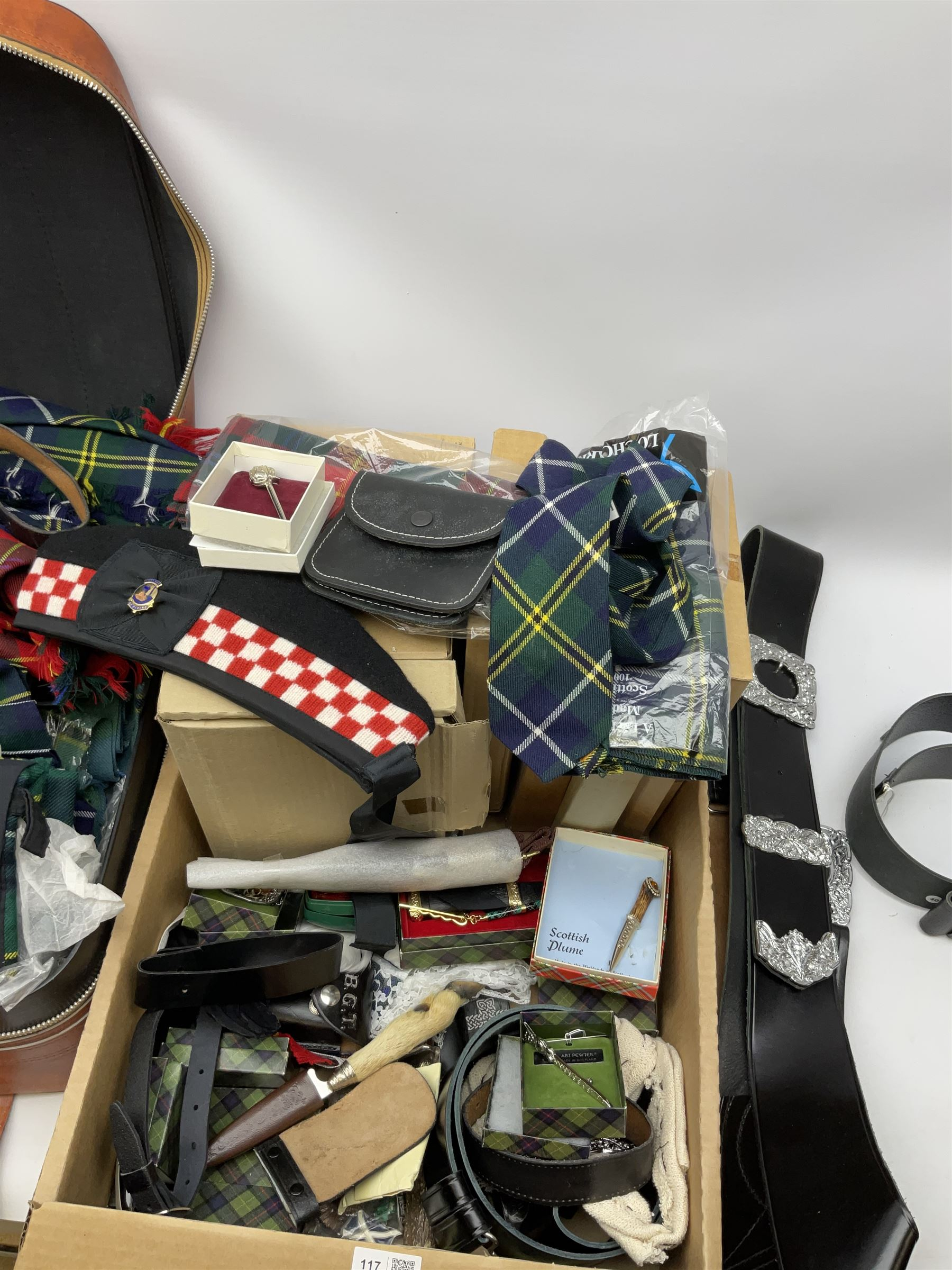 Quantity of highland dress to include approximately is kilts with examples by Locharron - Image 2 of 6