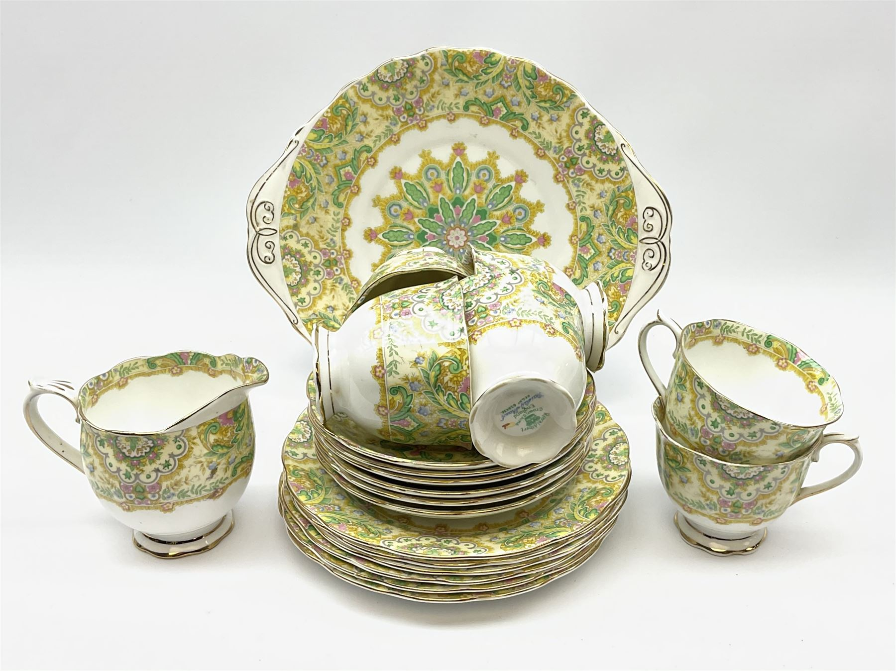 Royal Albert 'Paisley Shawl' pattern part tea set