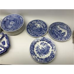 A collection of Spode blue and white ceramics - Image 6 of 16