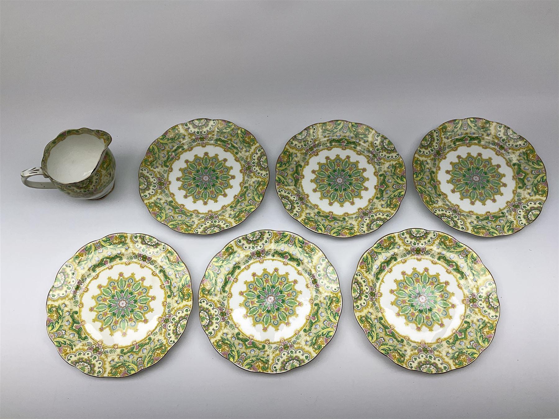 Royal Albert 'Paisley Shawl' pattern part tea set - Image 8 of 12