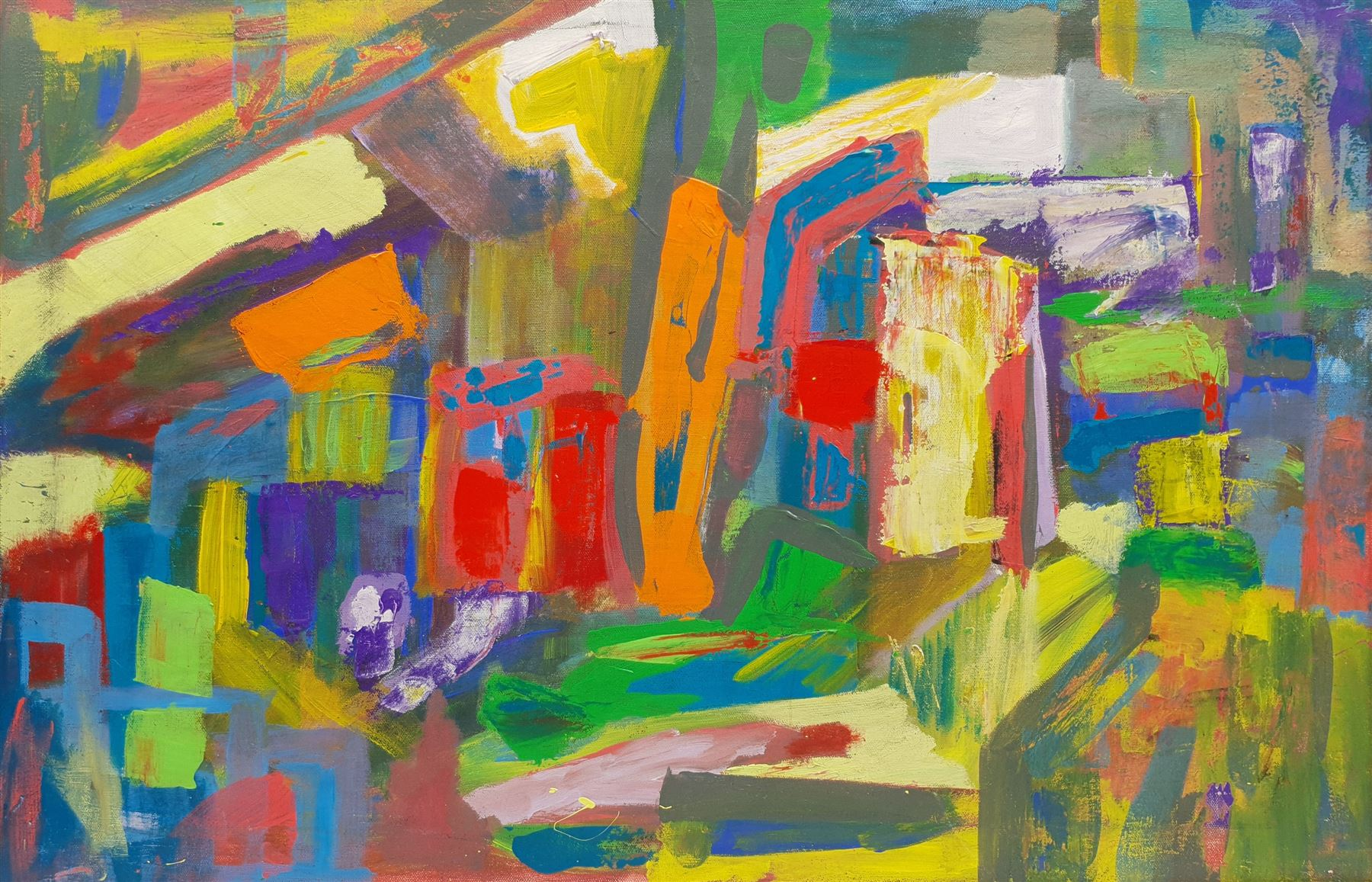 Geoffrey Harrop (British 1947-): 'Souk' - Arabian Abstract