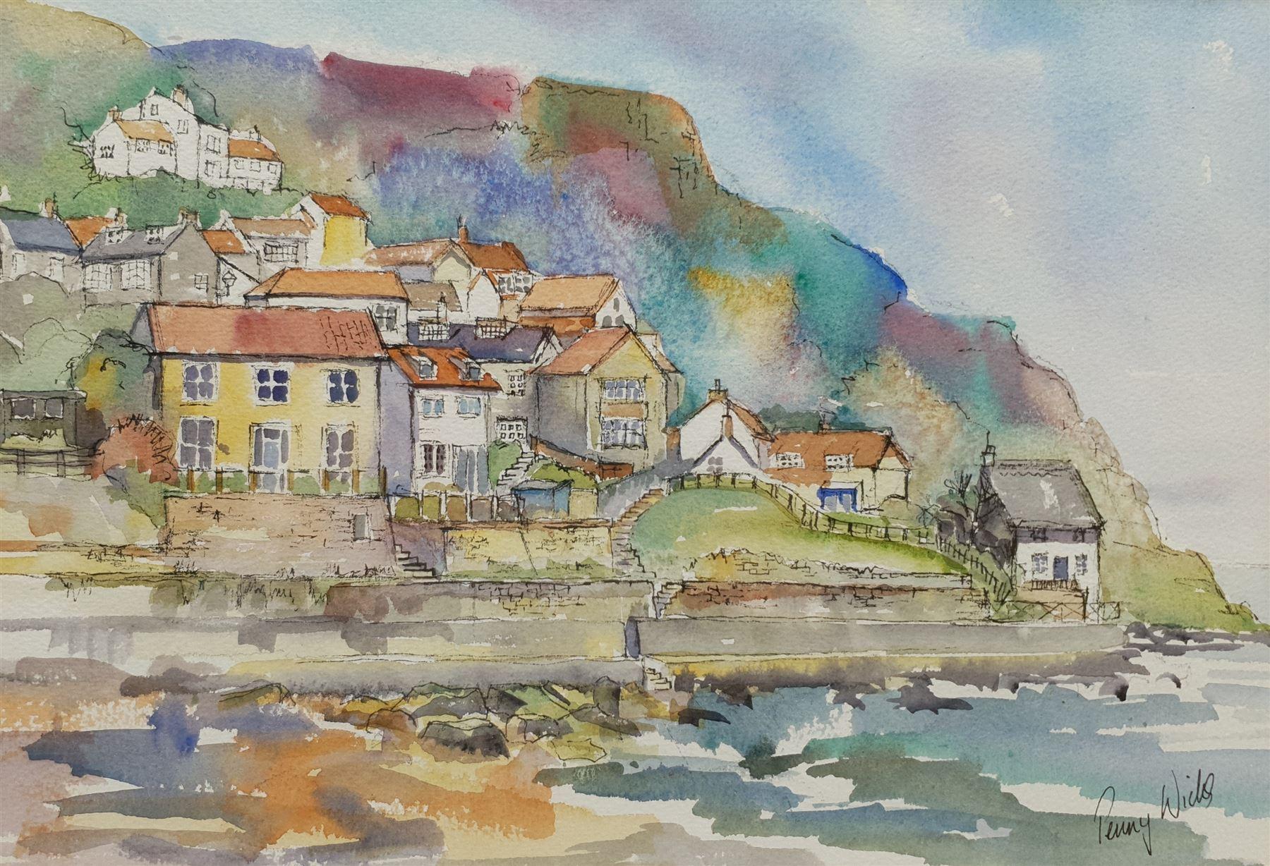 Penny Wicks (British 1949-): 'Runswick Bay'