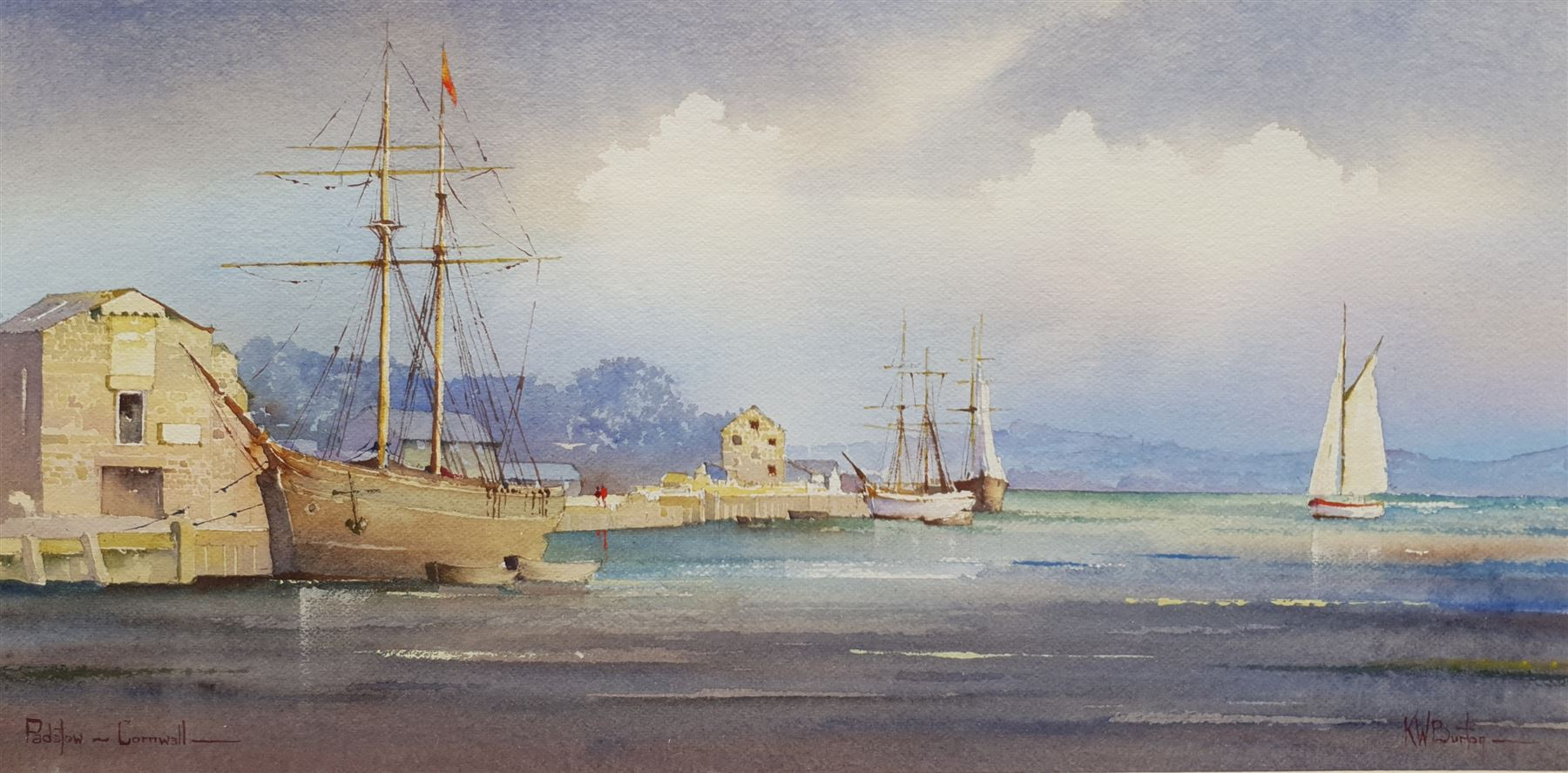 Kenneth W Burton (British 1946-): 'Padstow Cornwall'