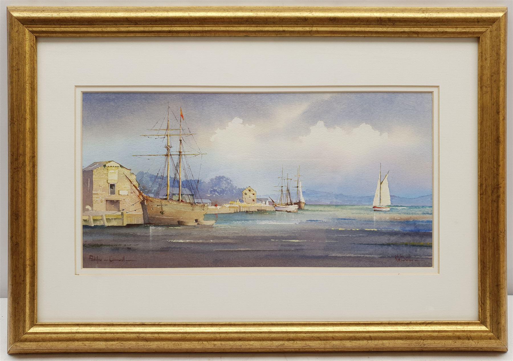 Kenneth W Burton (British 1946-): 'Padstow Cornwall' - Image 2 of 3
