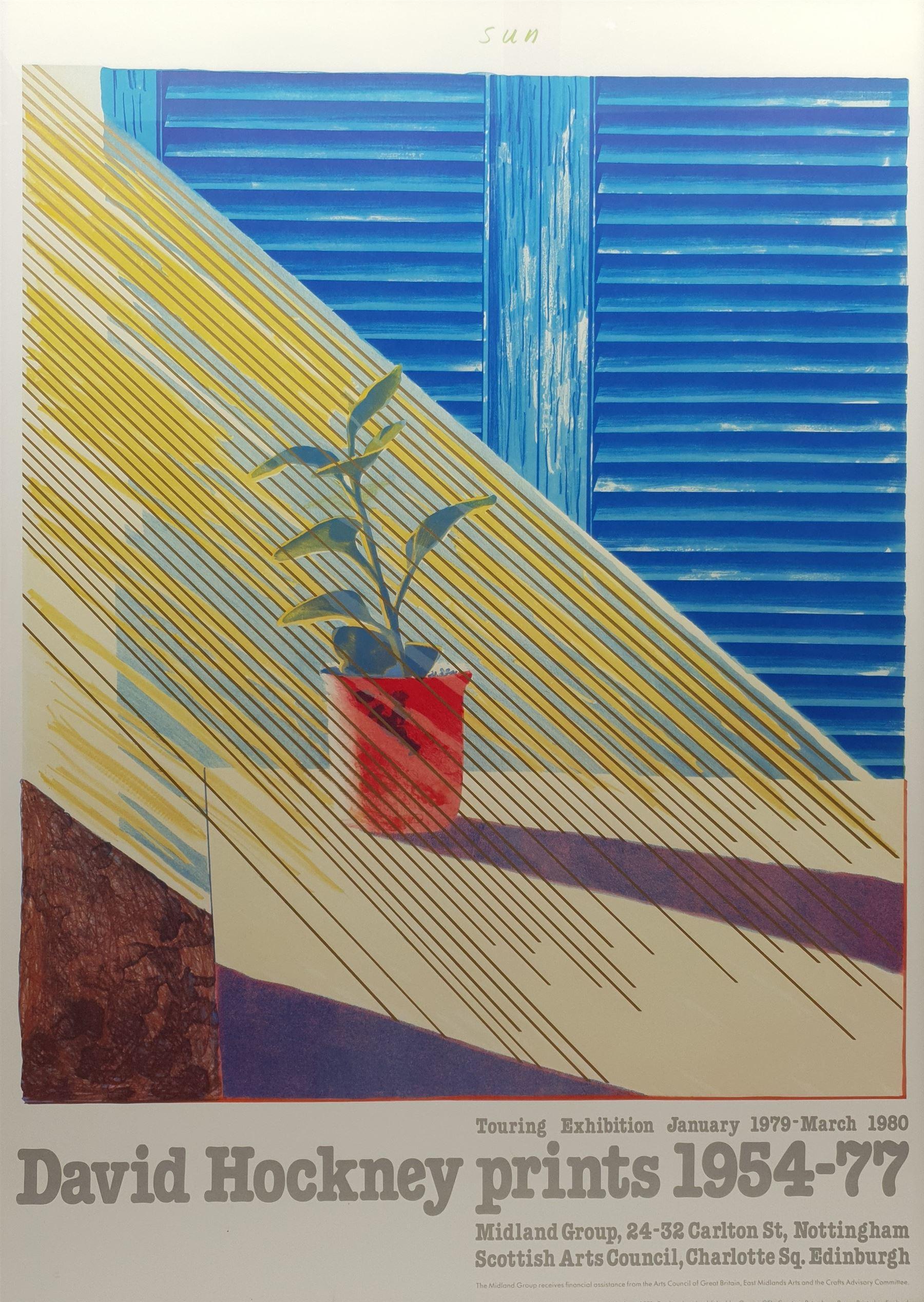 After David Hockney (British 1937-): 'Sun - David Hockney prints 1954-77'