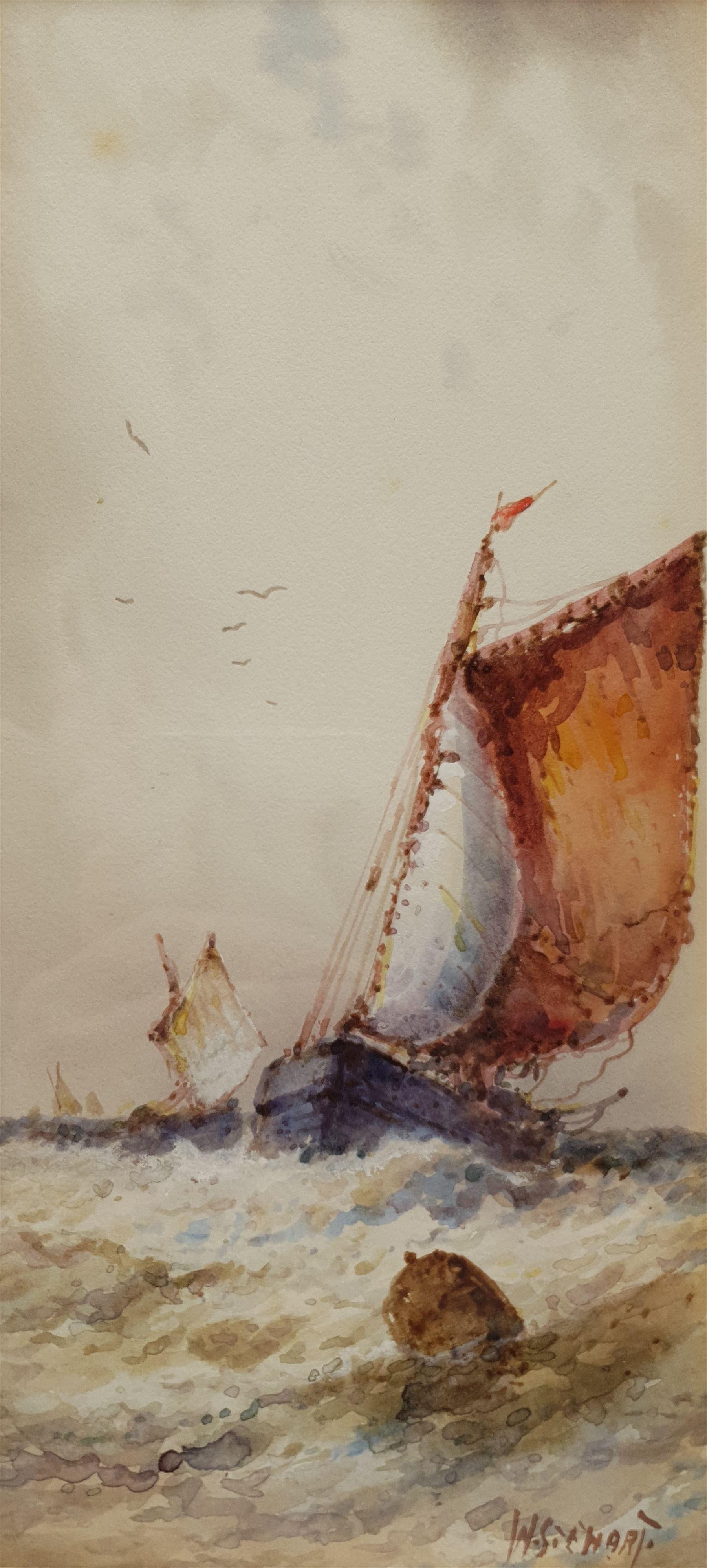 William Stewart (British 1823-1906): Ship at Sea