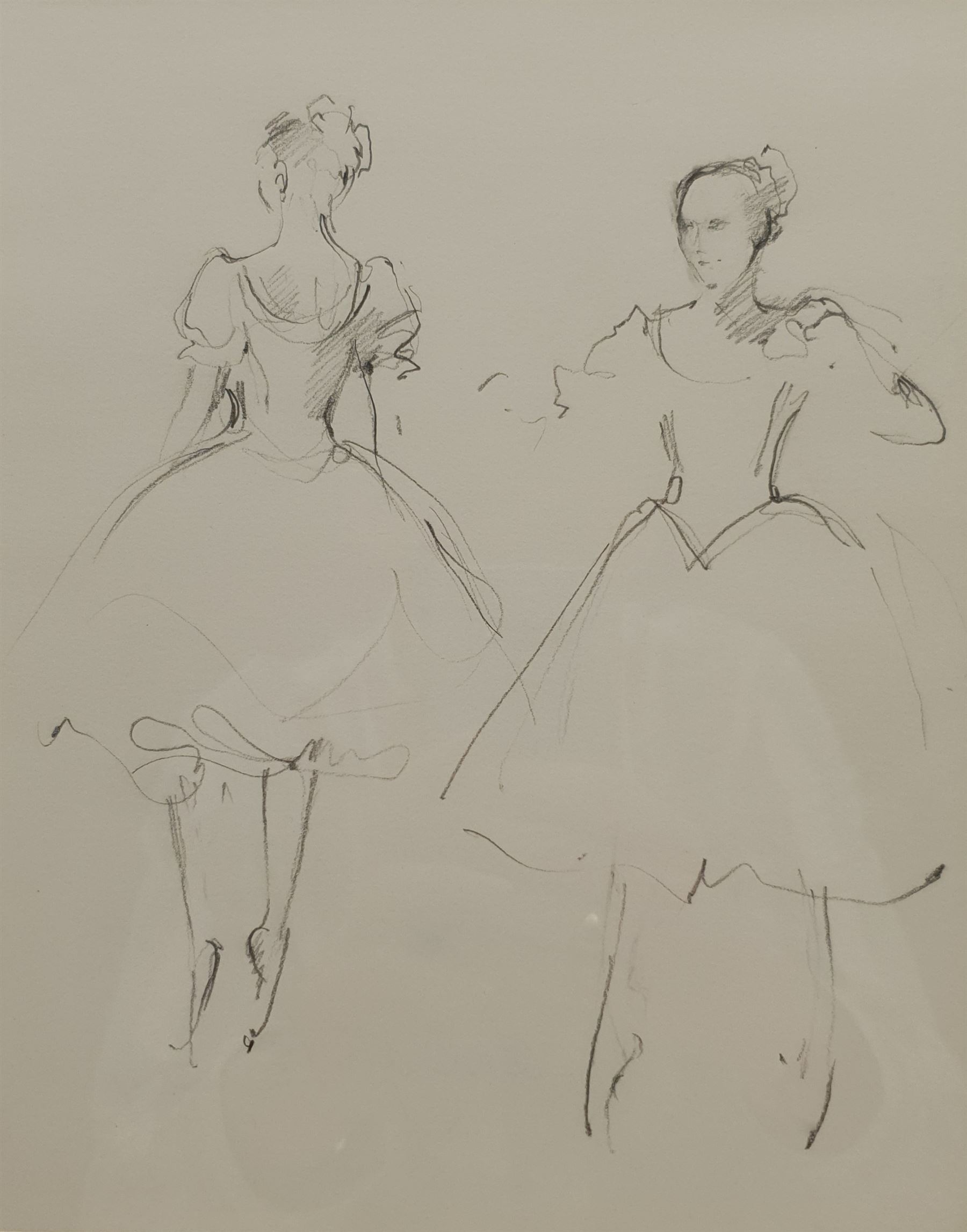 Lesley Fotherby (British 1946-): 'Preparing for Coppelia Study II'