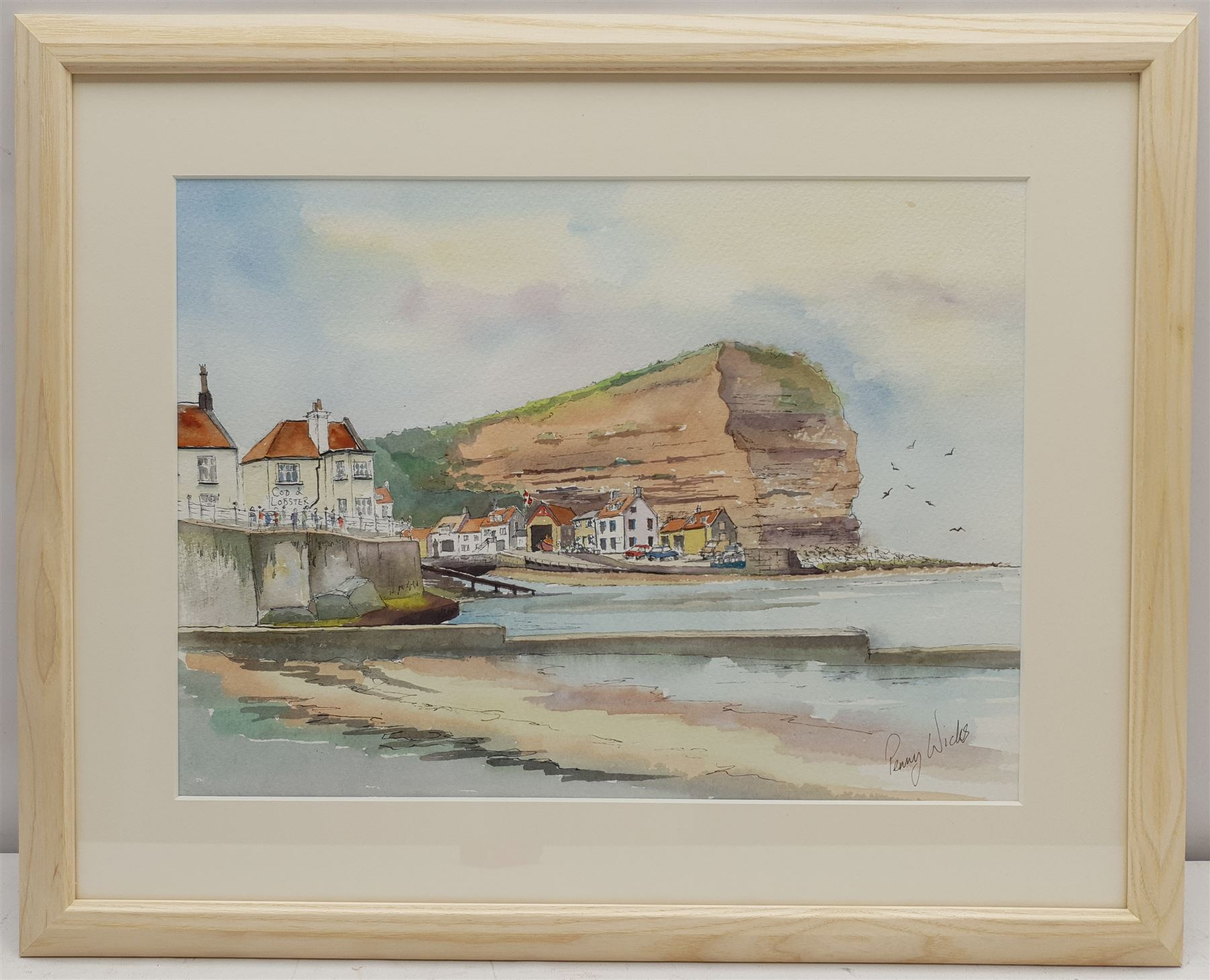Penny Wicks (British 1949-): Cod and Lobster 'Staithes' - Image 2 of 2