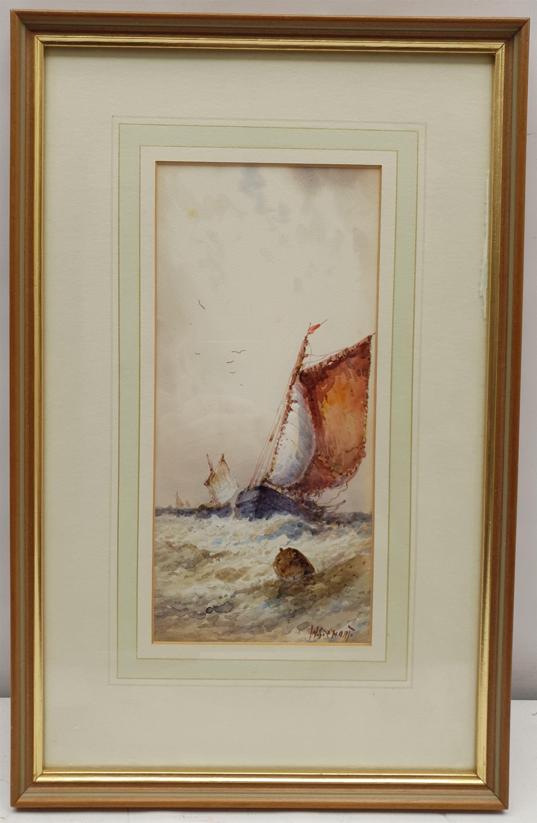 William Stewart (British 1823-1906): Ship at Sea - Image 2 of 2