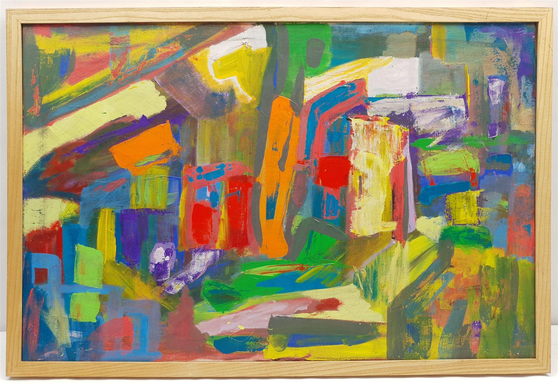 Geoffrey Harrop (British 1947-): 'Souk' - Arabian Abstract - Image 2 of 2
