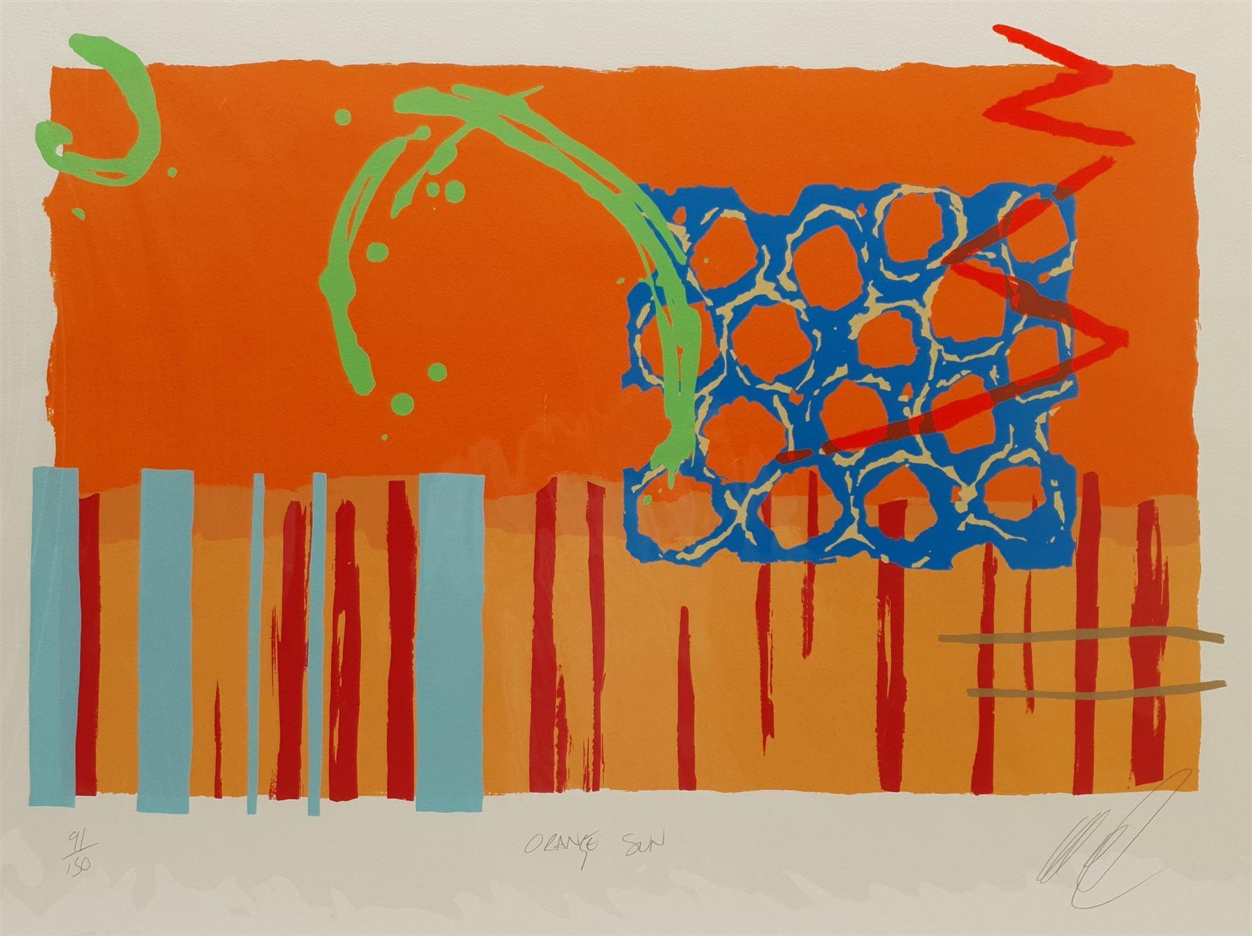 Lee Crew (British 1970-): 'Orange Sun'