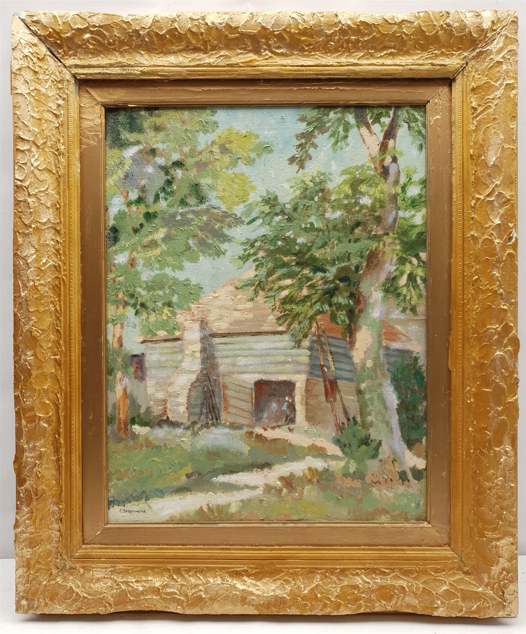 C S Hammond (Early 20th century): Sunny Farmstead - Image 2 of 4