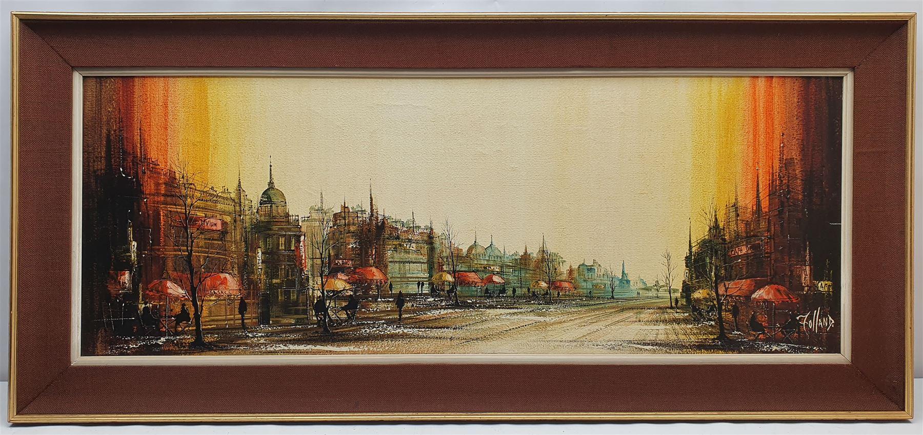Ronald Norman Folland (British 1932-1999): Parisian Street - Image 2 of 2