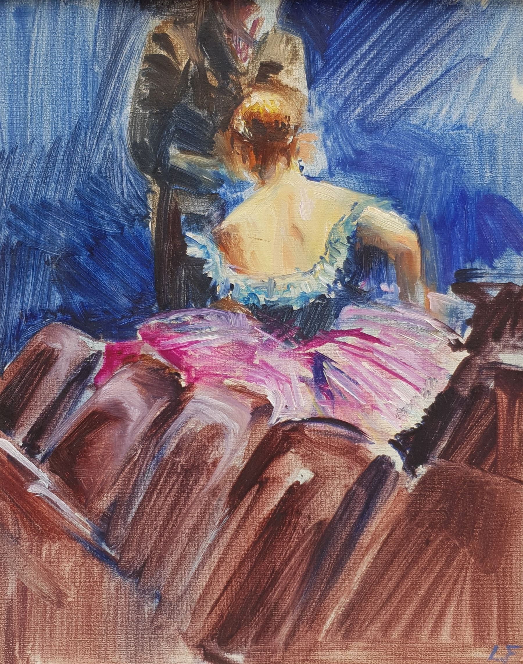 Lesley Fotherby (British 1946-): 'Dancer in the Stalls