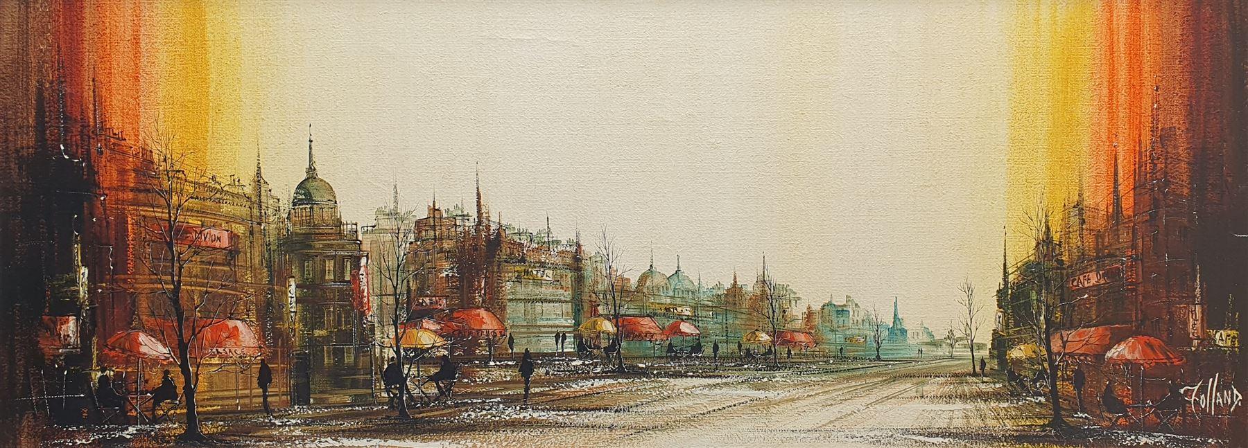 Ronald Norman Folland (British 1932-1999): Parisian Street