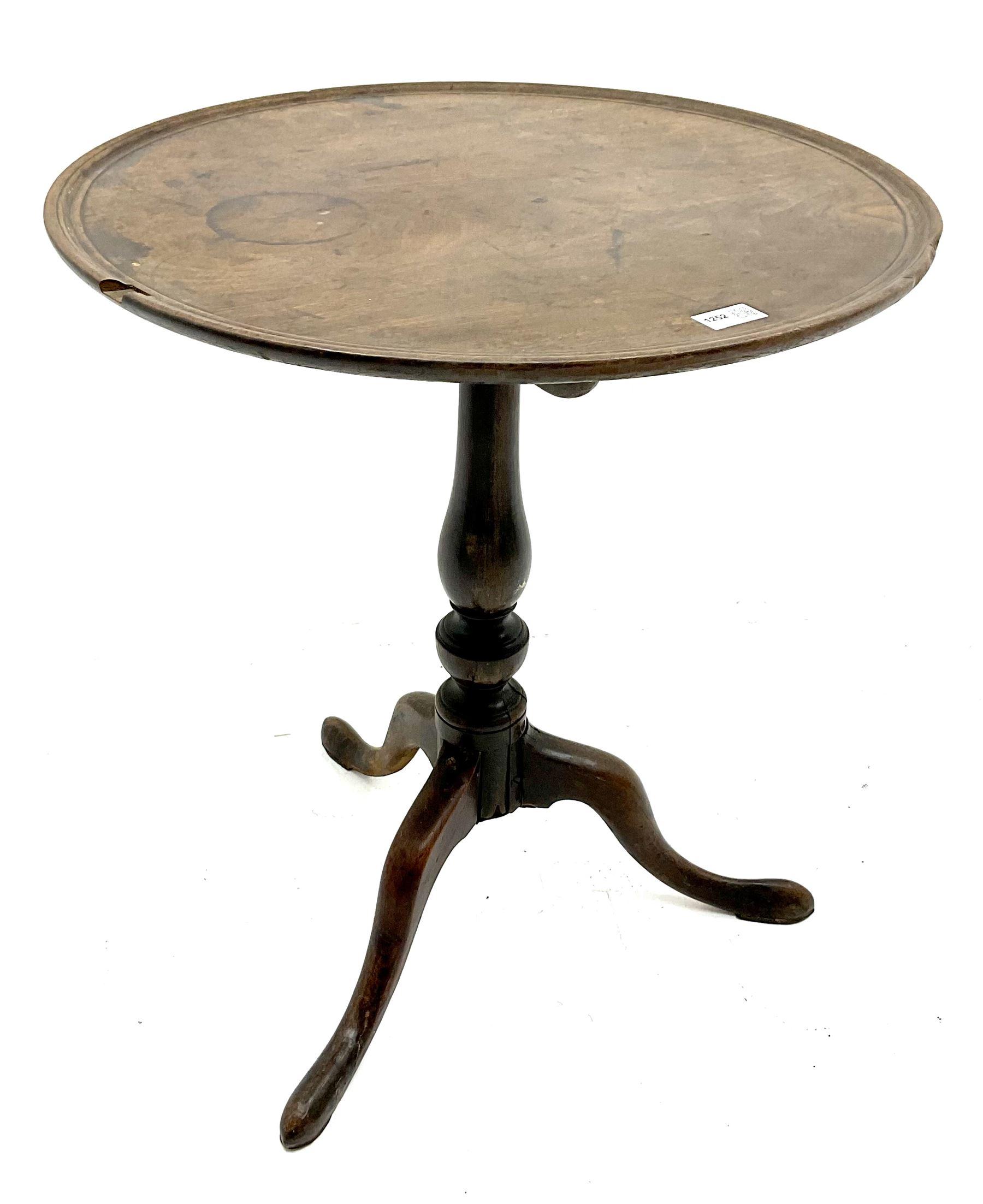 19th century Mahogany tripod wine table