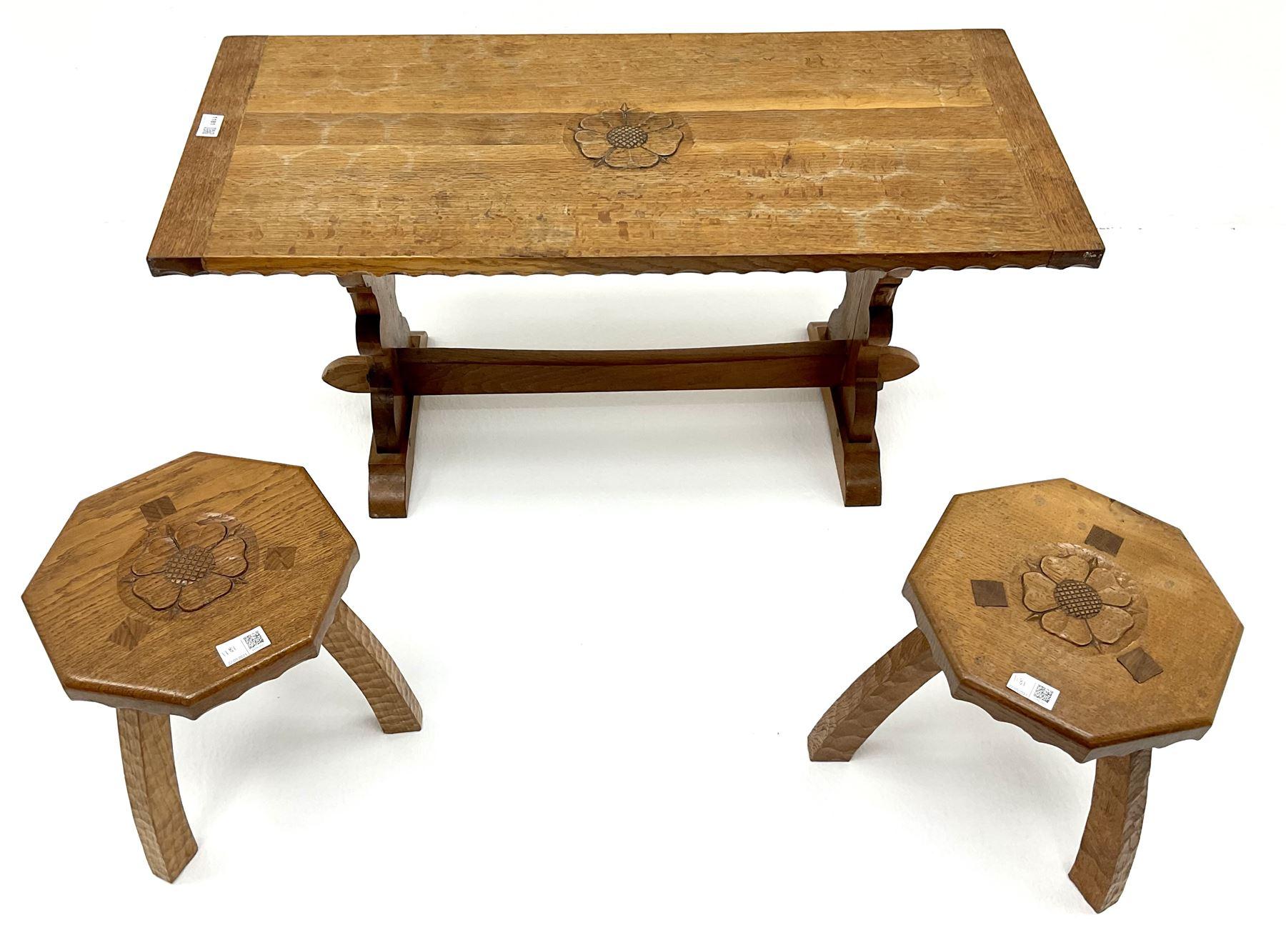 Yorkshire oak rectangular coffee table - Image 2 of 6