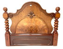 Victorian mahogany barley twist support headboard