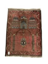 Baluchi red ground prayer rug