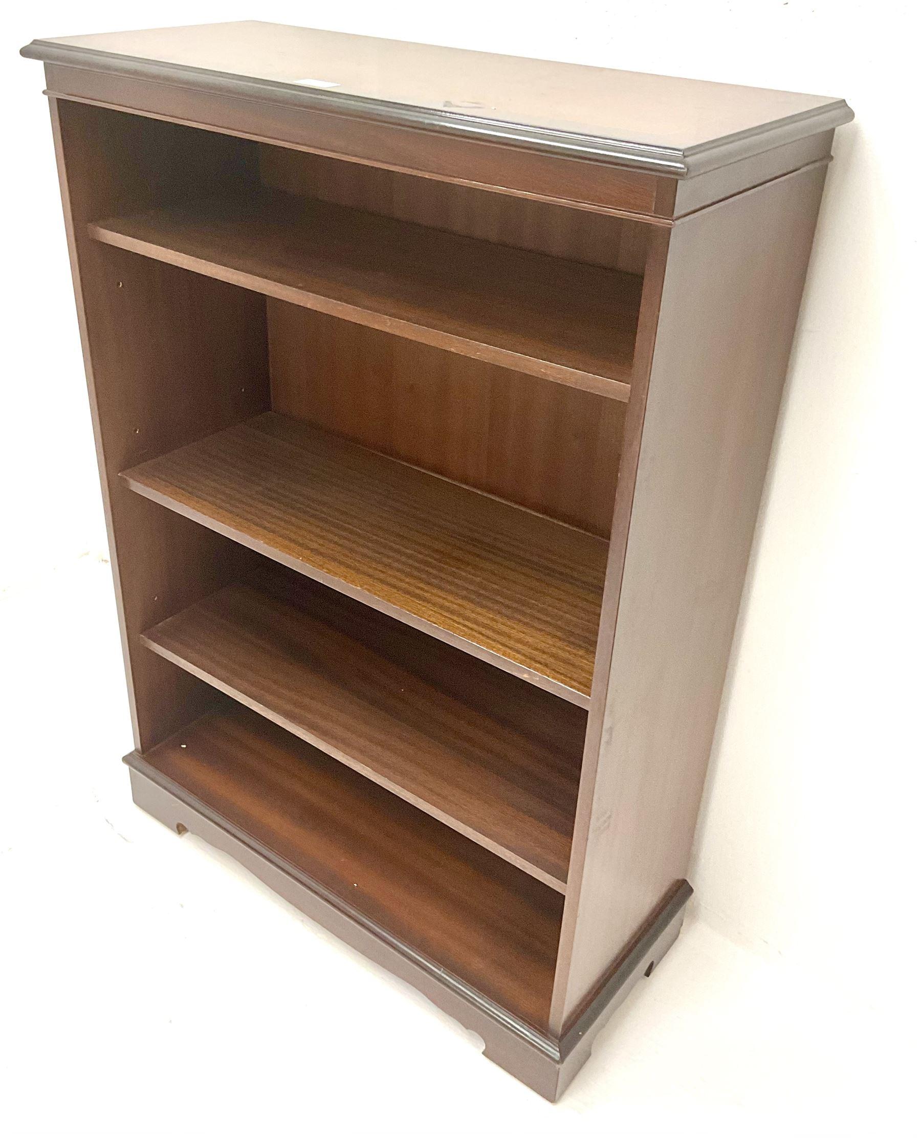 Small inlaid mahogany bookcase - Image 2 of 3