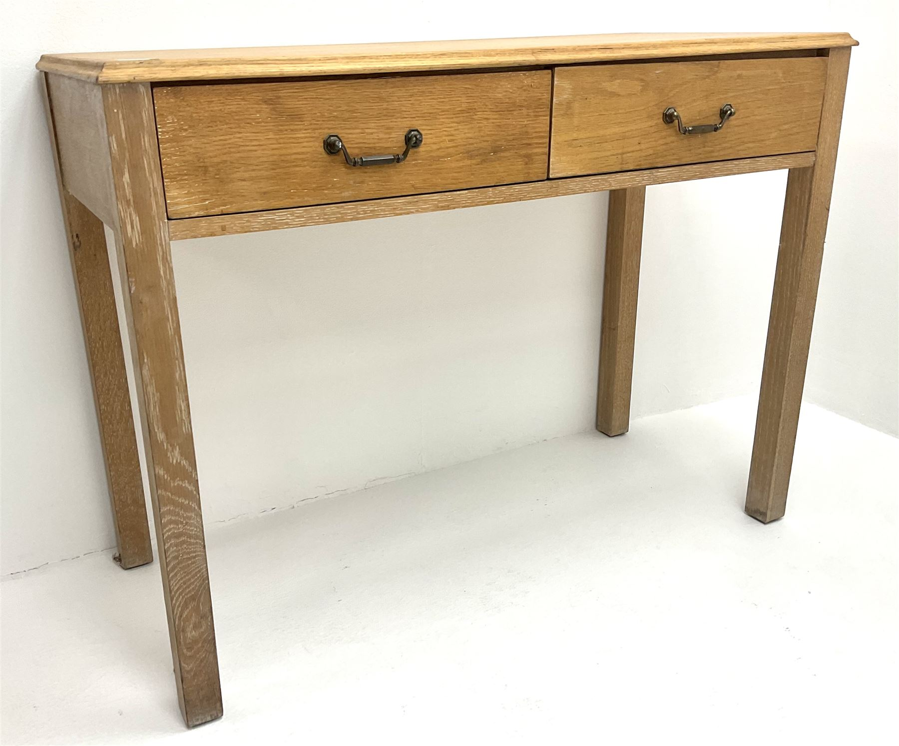 Light oak side table