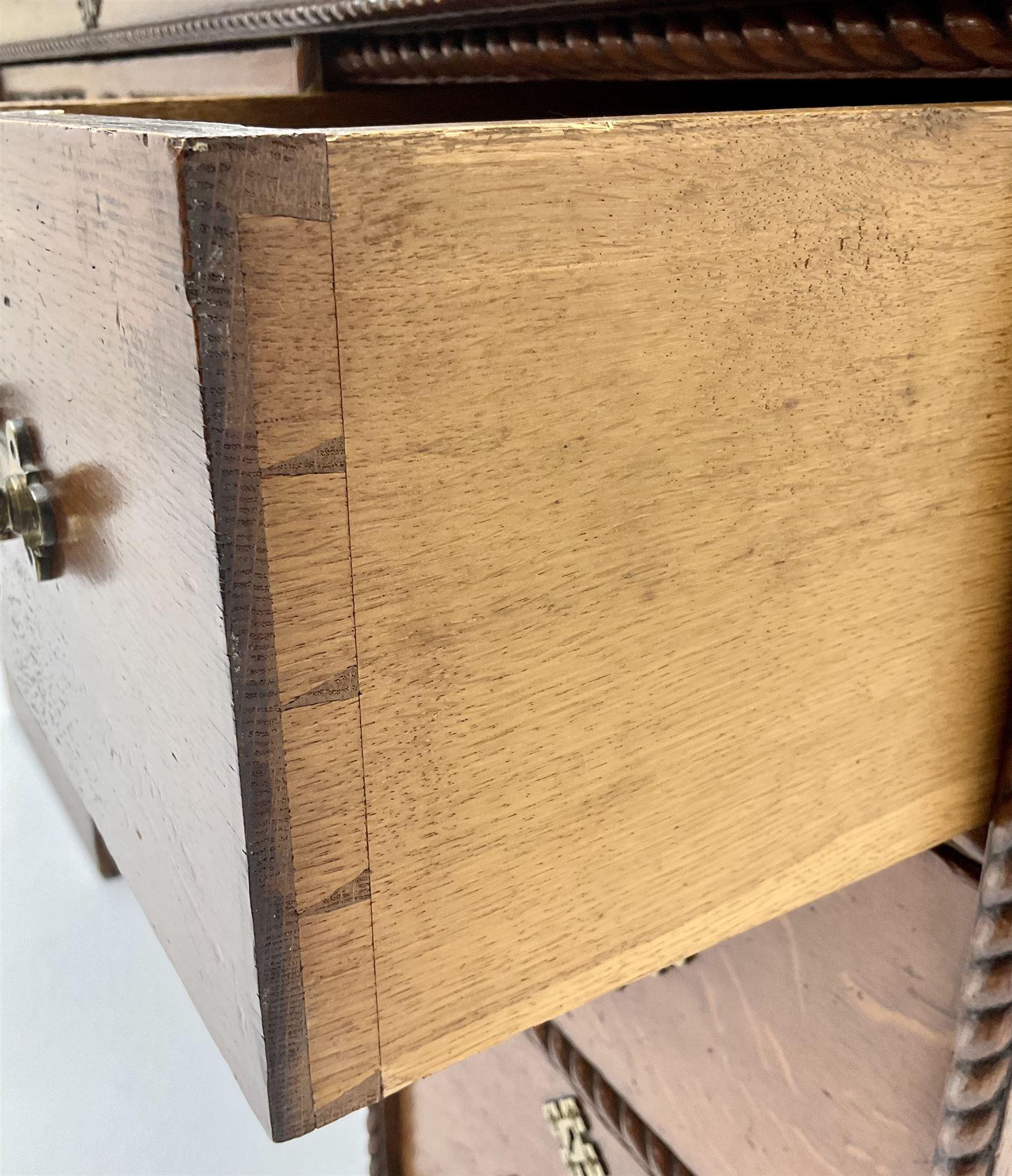 Victorian aesthetic oak movement desk - Image 6 of 7