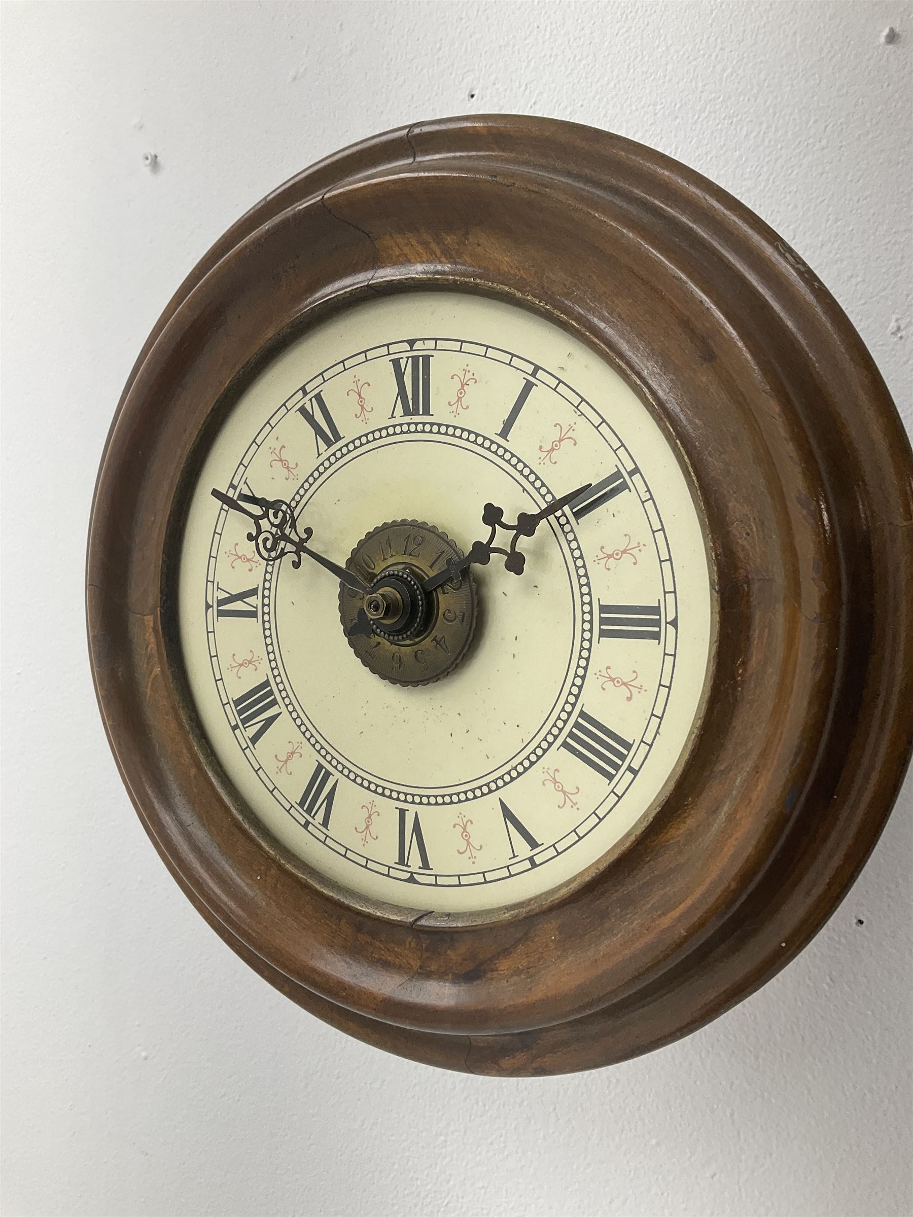 Early 20th century 'Postman's' alarm wall hanging clock - Image 2 of 5