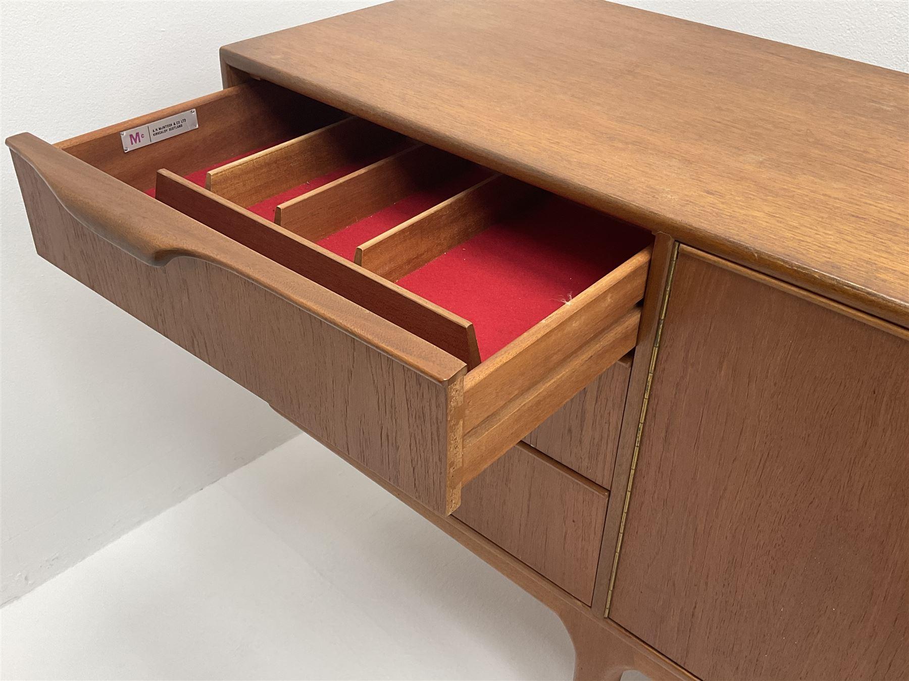 Mid 20th century A.H.McIntosh teak sideboard - Image 2 of 7