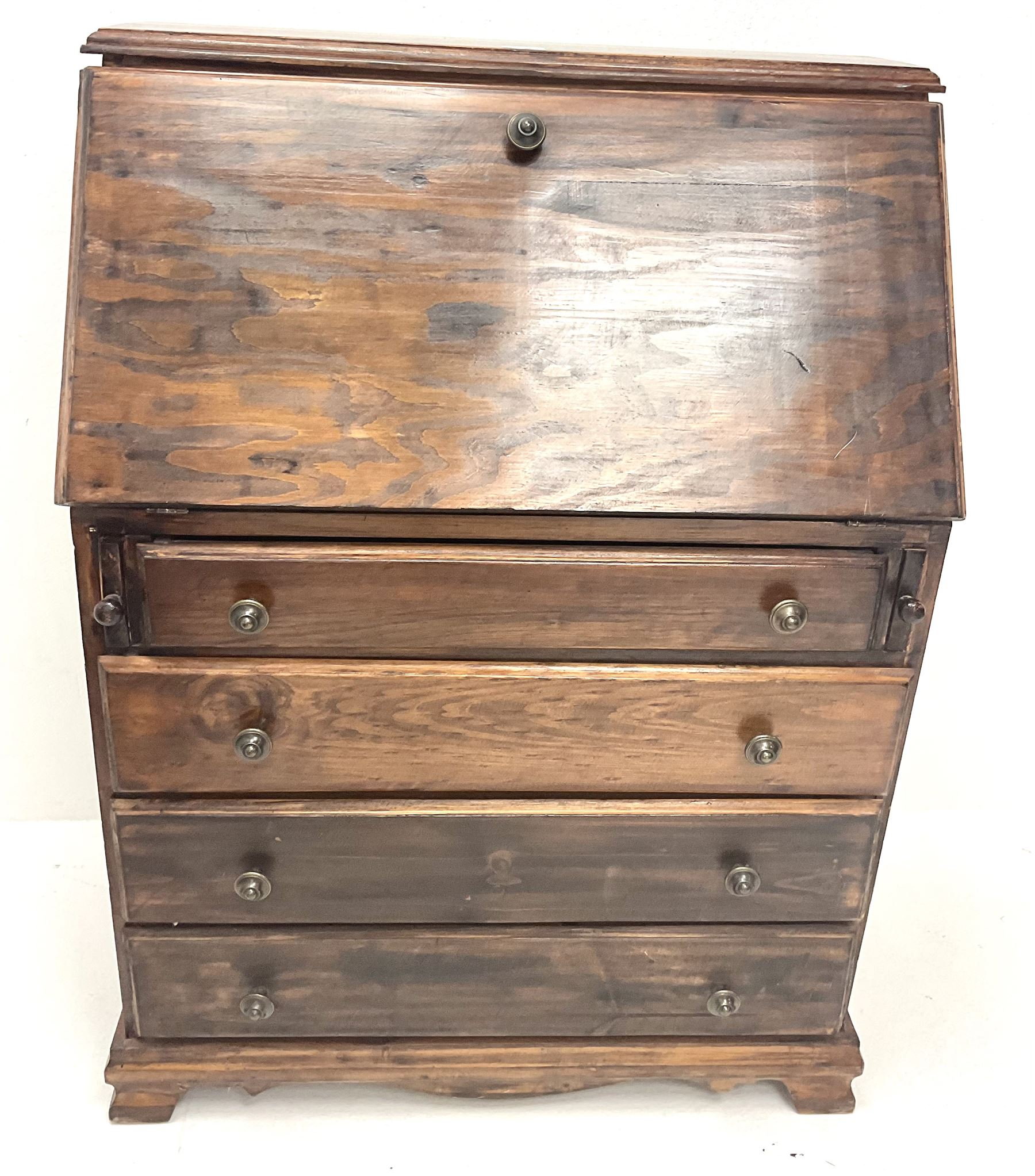 Hardwood bureau desk - Image 2 of 3