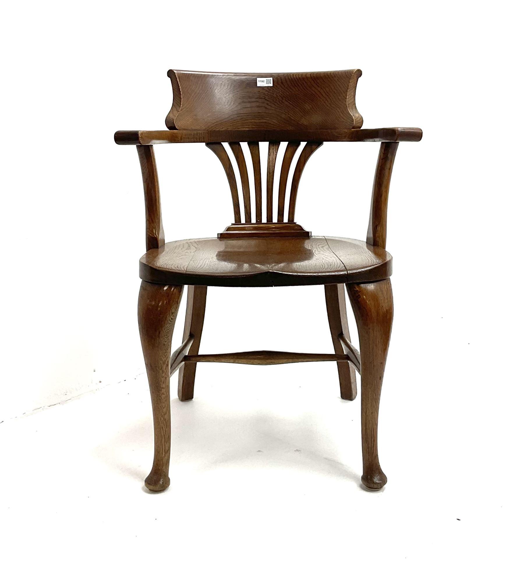 19th century oak desk chair