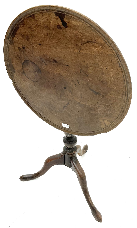 19th century Mahogany tripod wine table - Image 2 of 2