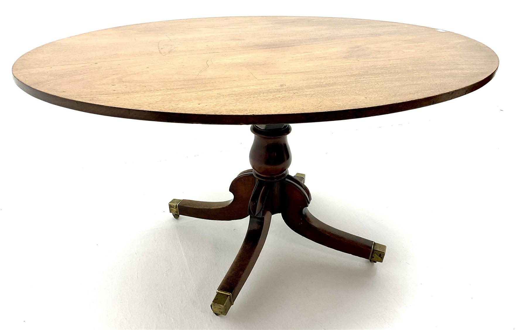George III oval mahogany breakfast table