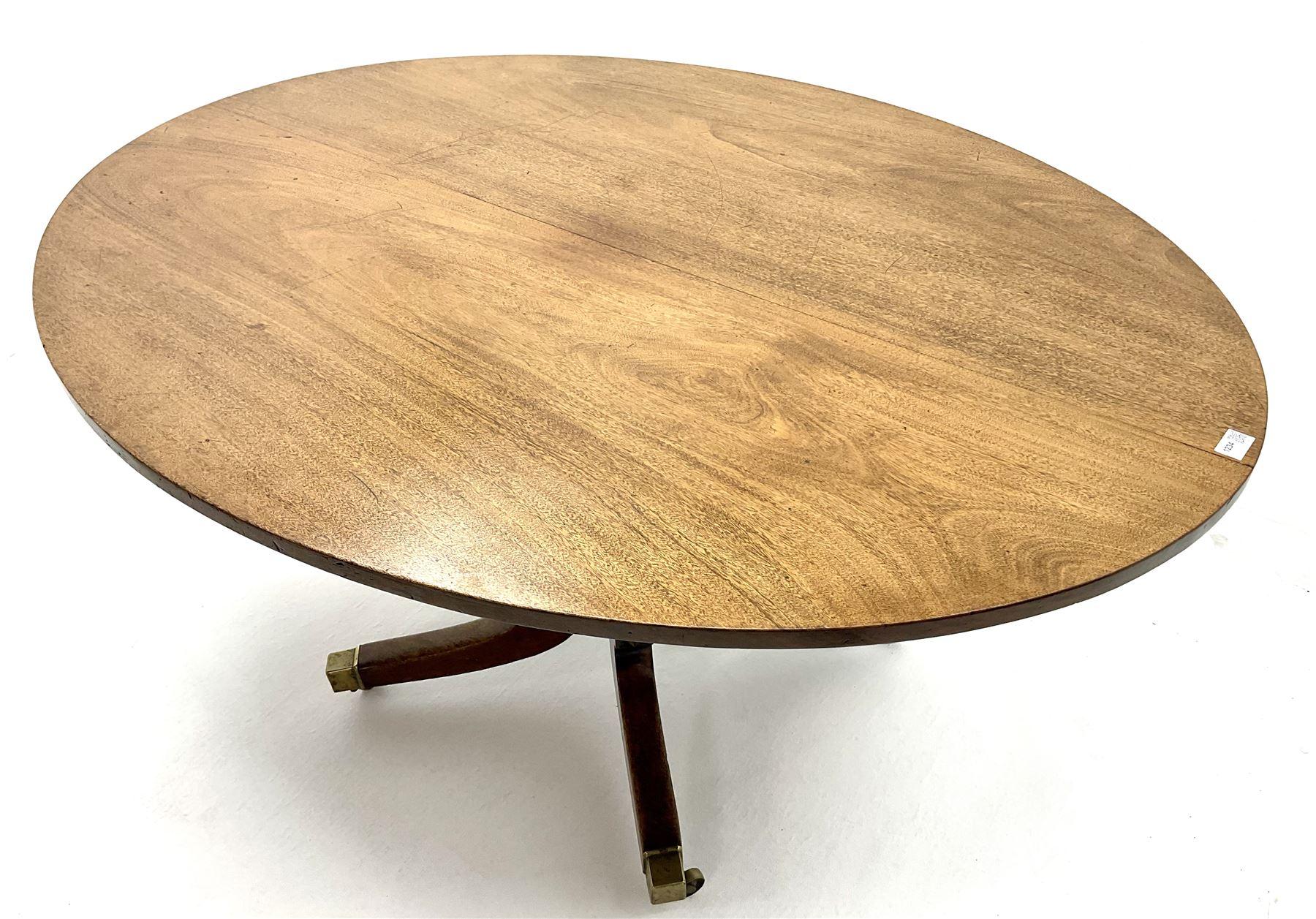 George III oval mahogany breakfast table - Image 2 of 4