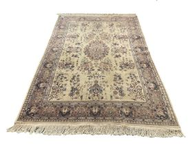 Persian style beige ground rug