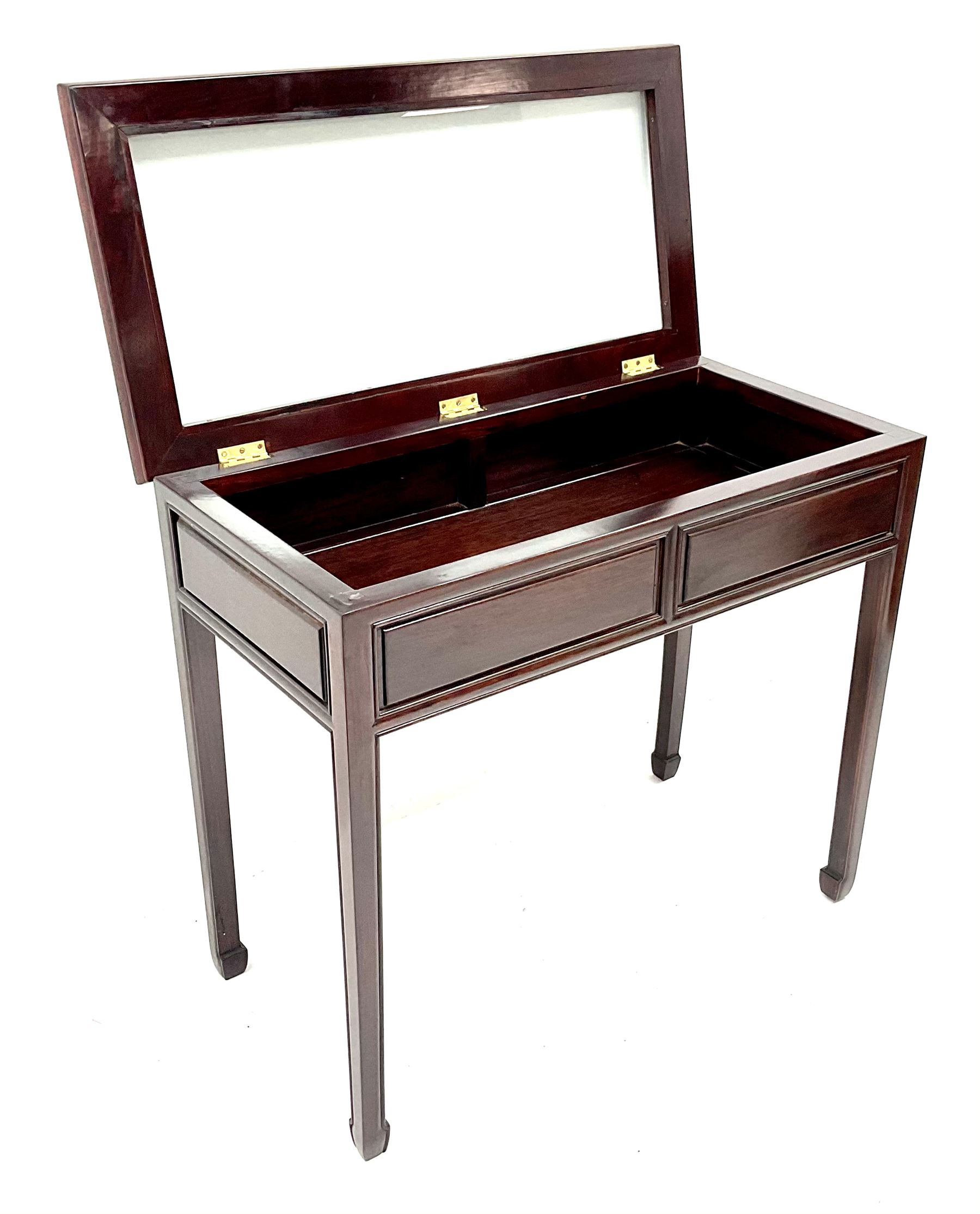 Chinese rosewood bijouterie table - Image 3 of 3