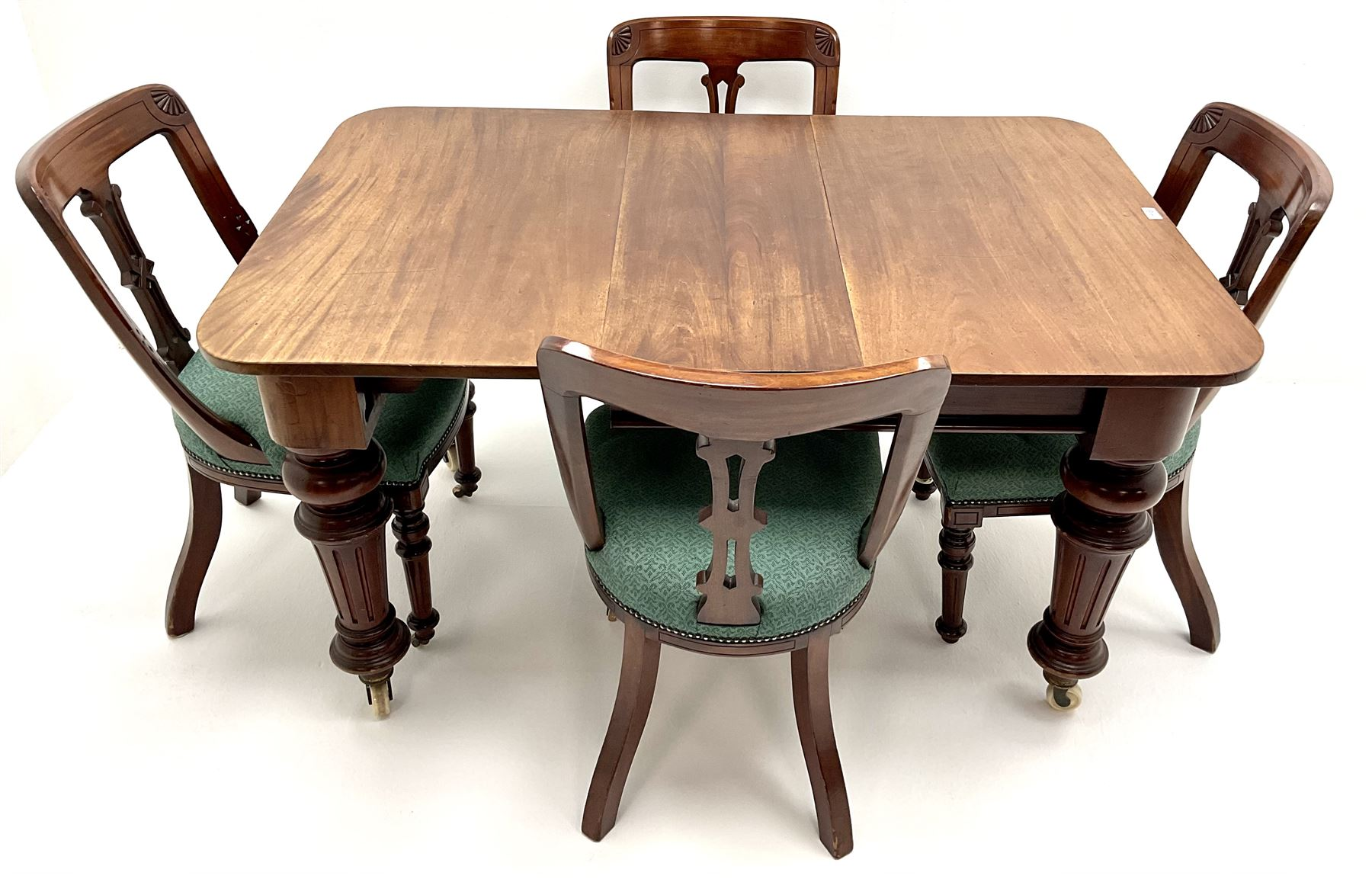 Victorian mahogany extending dining table - Image 2 of 4