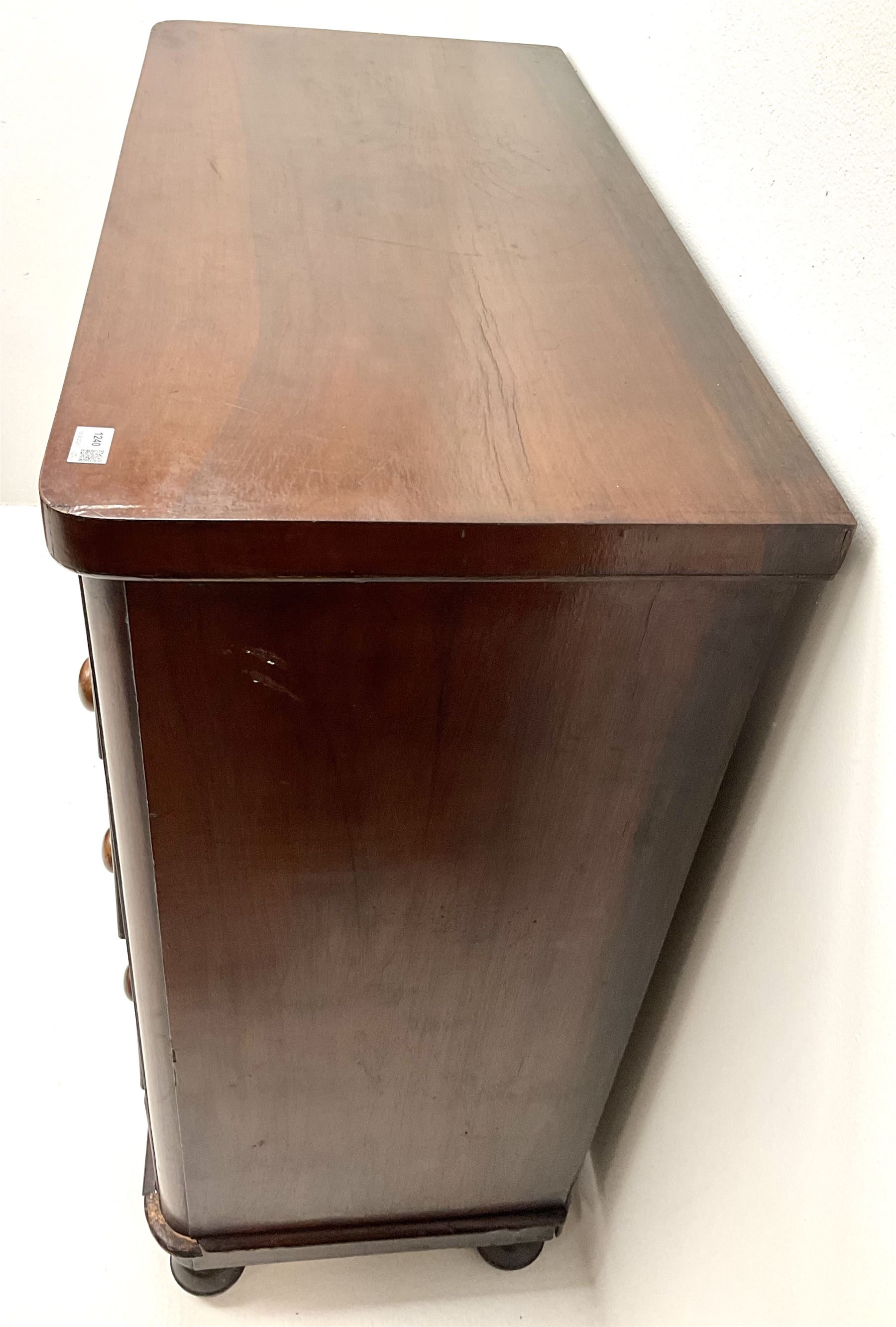 Victorian mahogany chest - Image 4 of 5