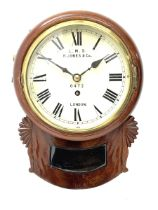 19th century and later mahogany cased LMS drop dial wall clock