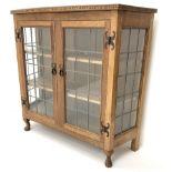 David 'Oakleaf man' Langstaff of Easingwold Yorkshire oak cabinet