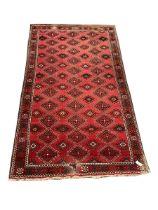 Turkish red ground rug