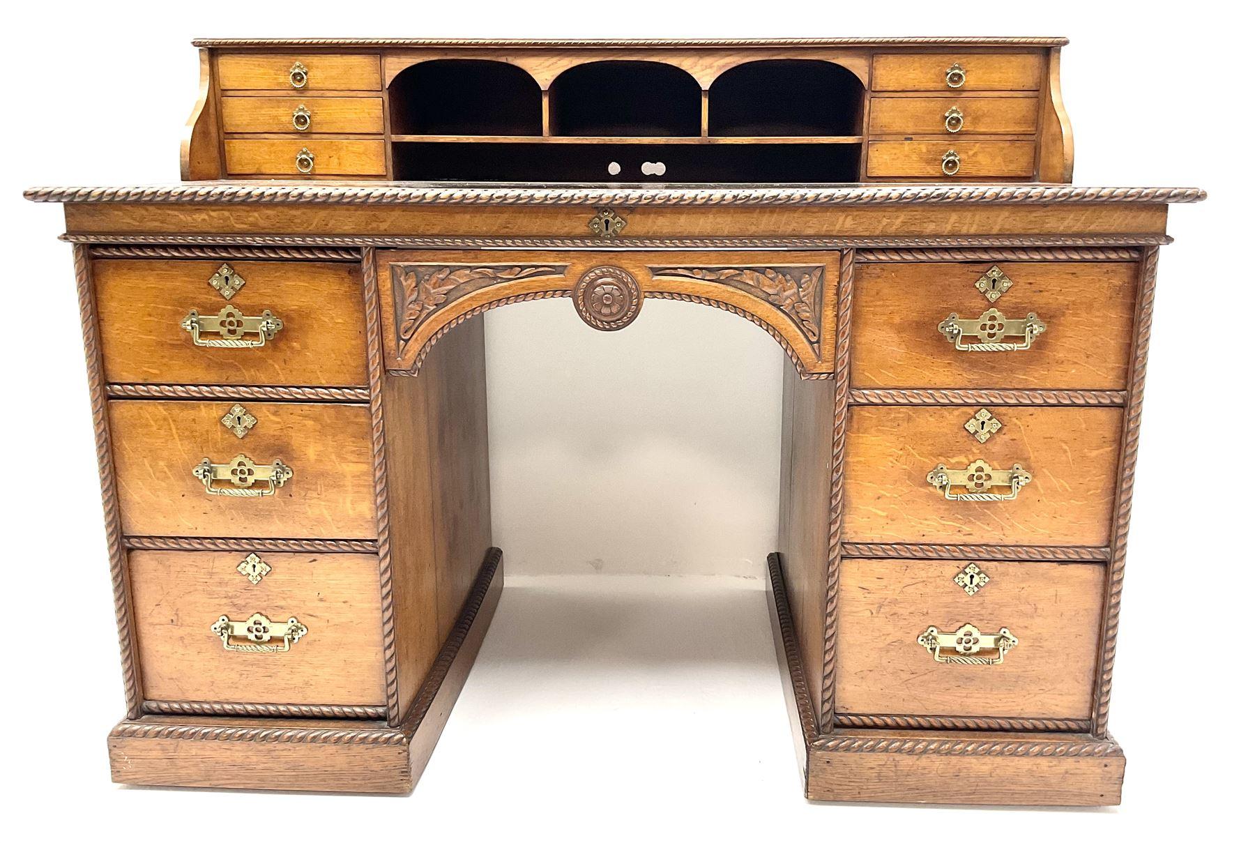 Victorian aesthetic oak movement desk