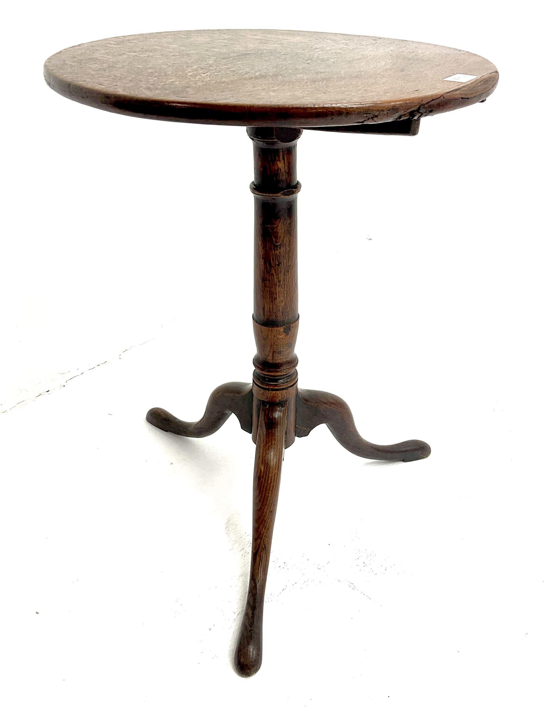 Georgian country oak tripod table