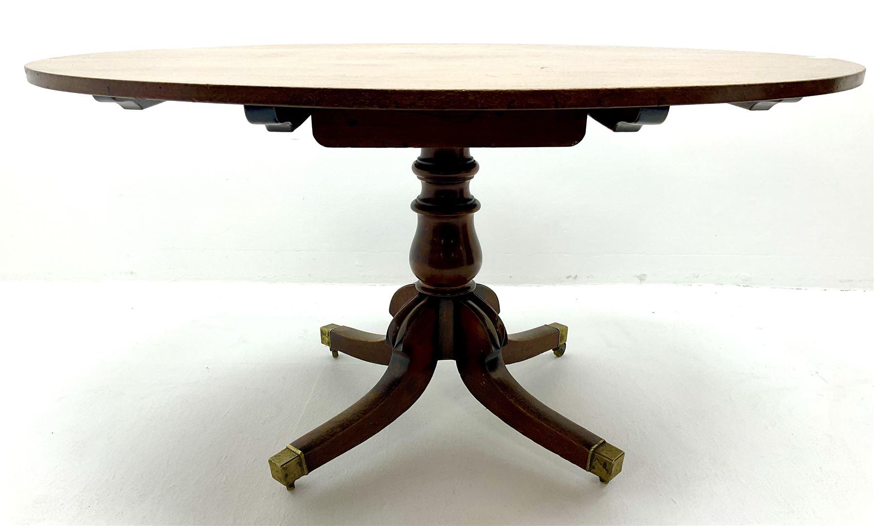 George III oval mahogany breakfast table - Image 3 of 4